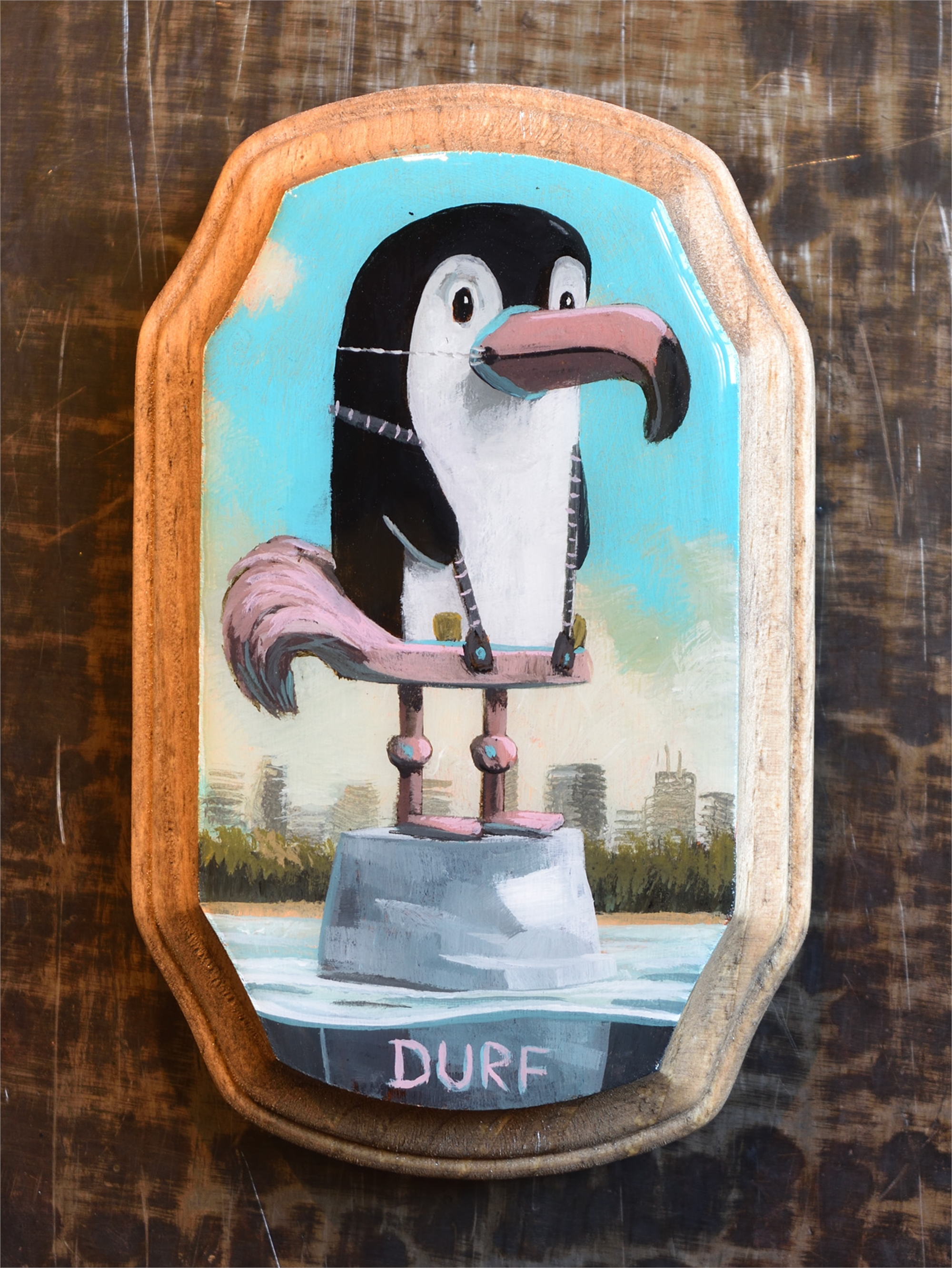Penguin in Flamingo Suit by Nathan Durfee