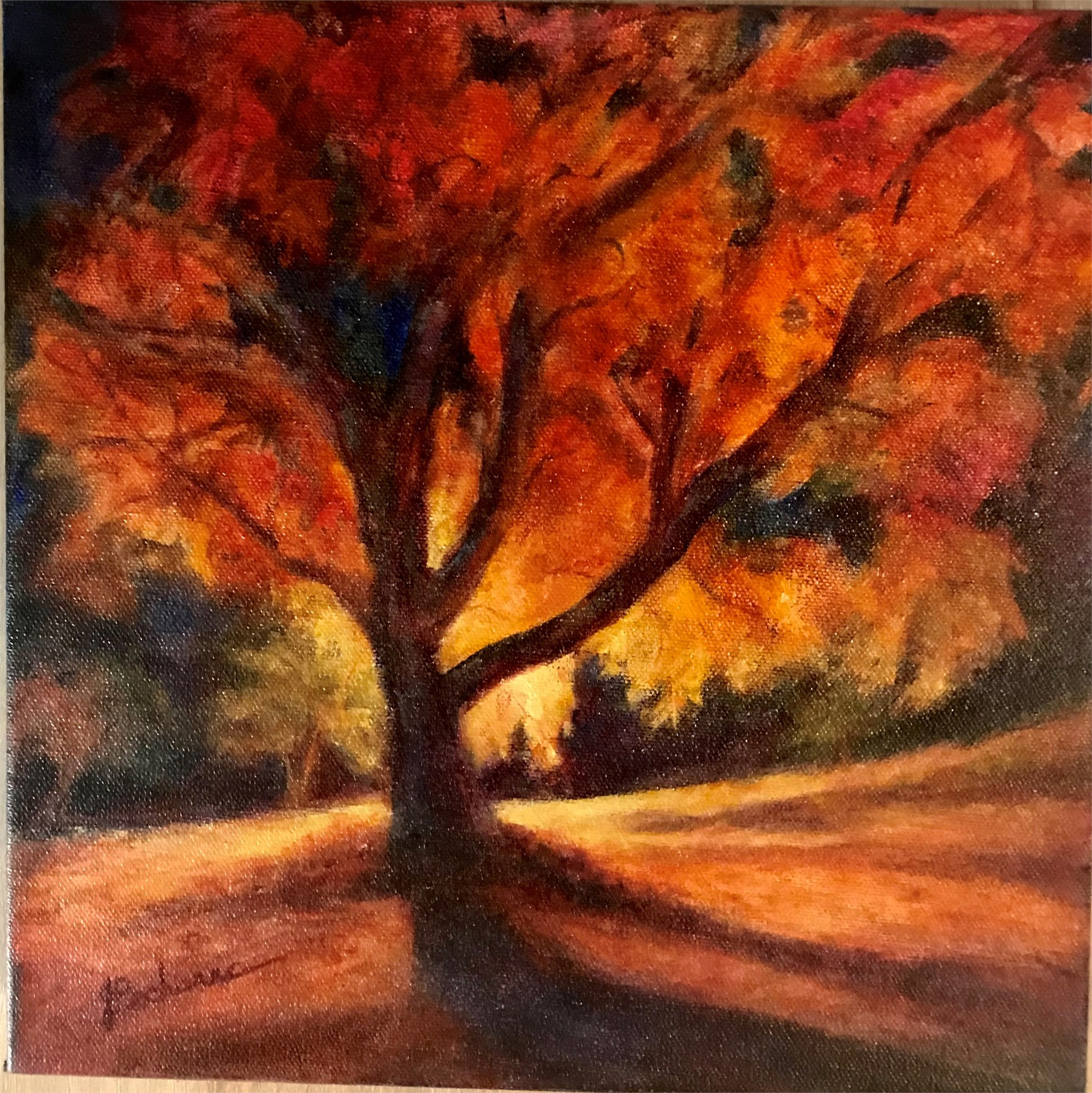Autumn Tree by Joan Pechanec (McMinnville, OR)