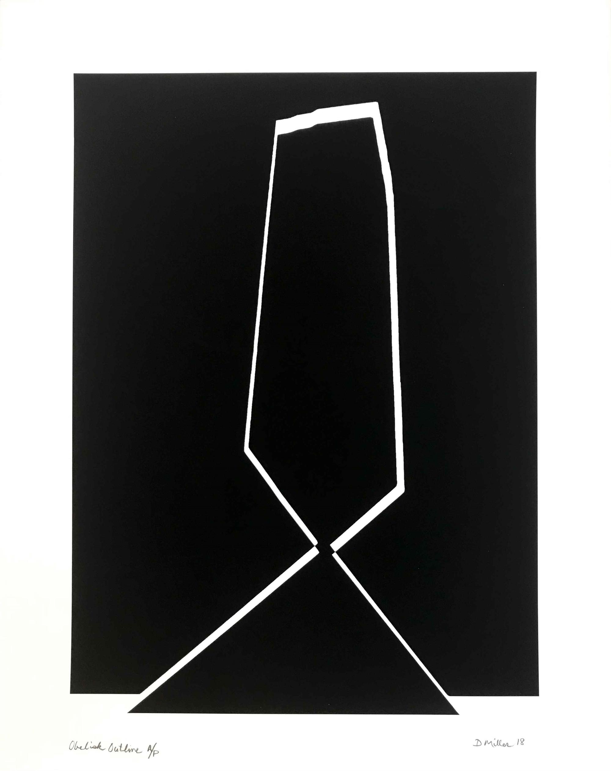 Obelisk Outline by David Miller