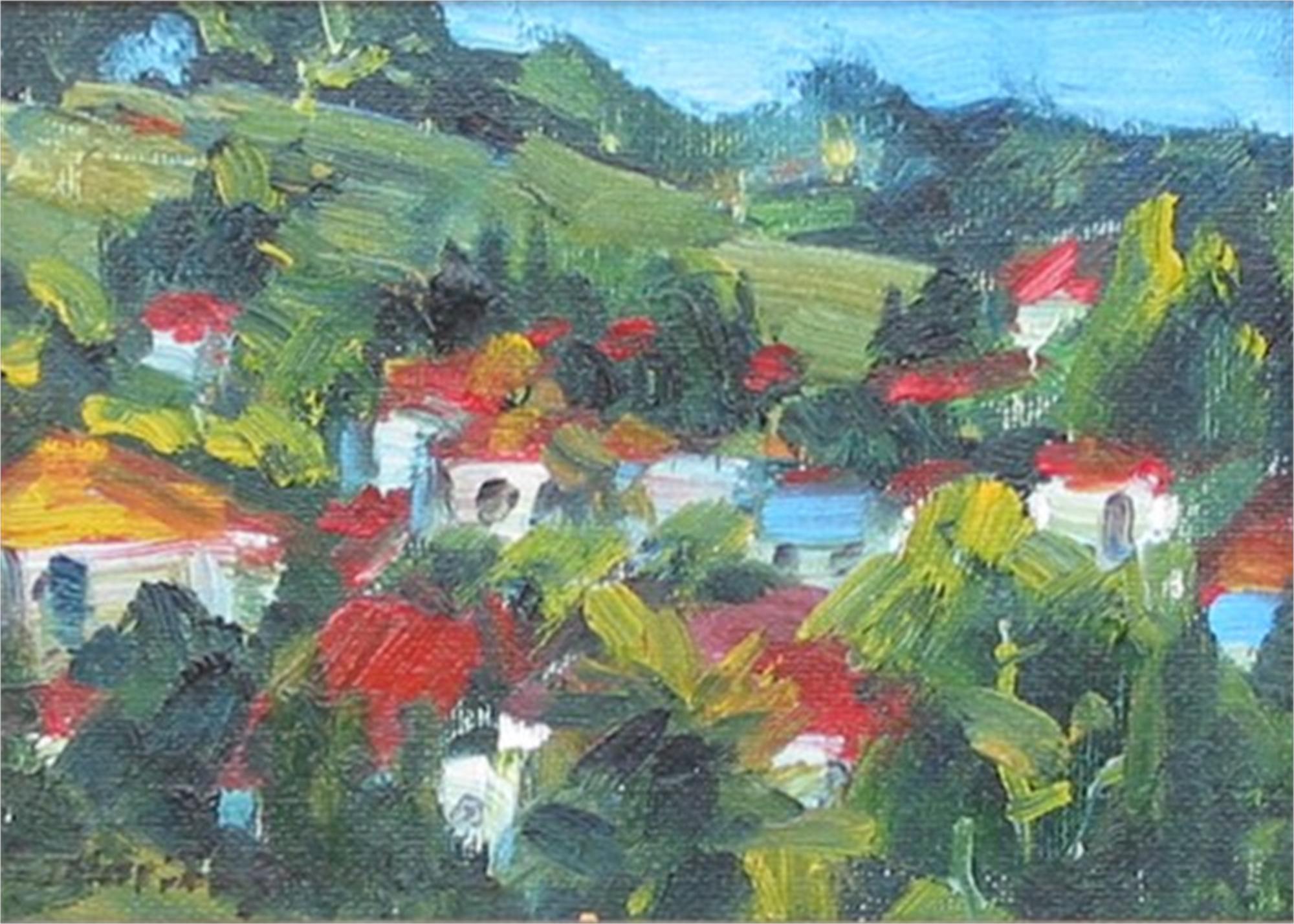 RED ROOFS I by ZAVALOVA