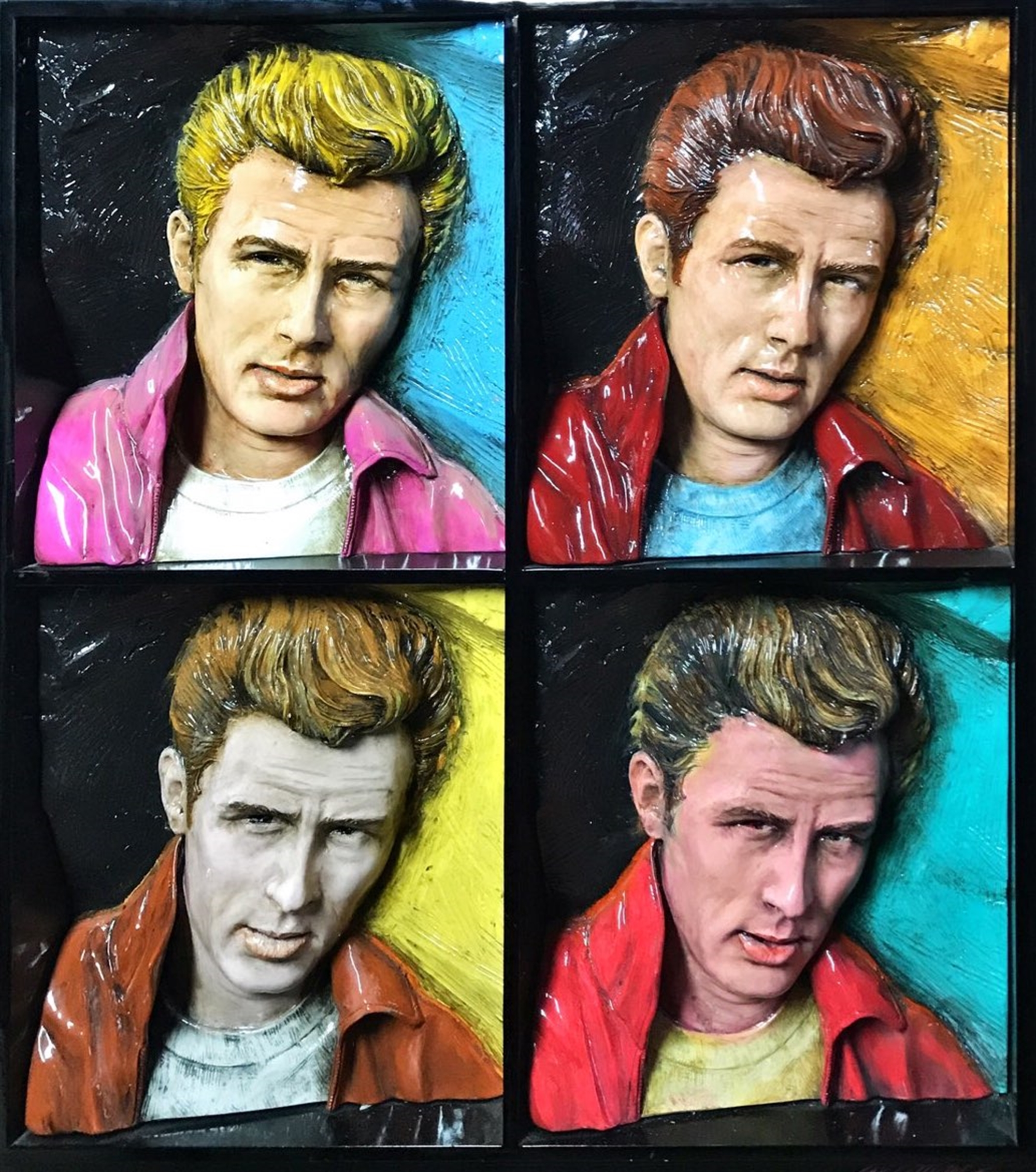 Warhol James Dean 4 by Bill Mack