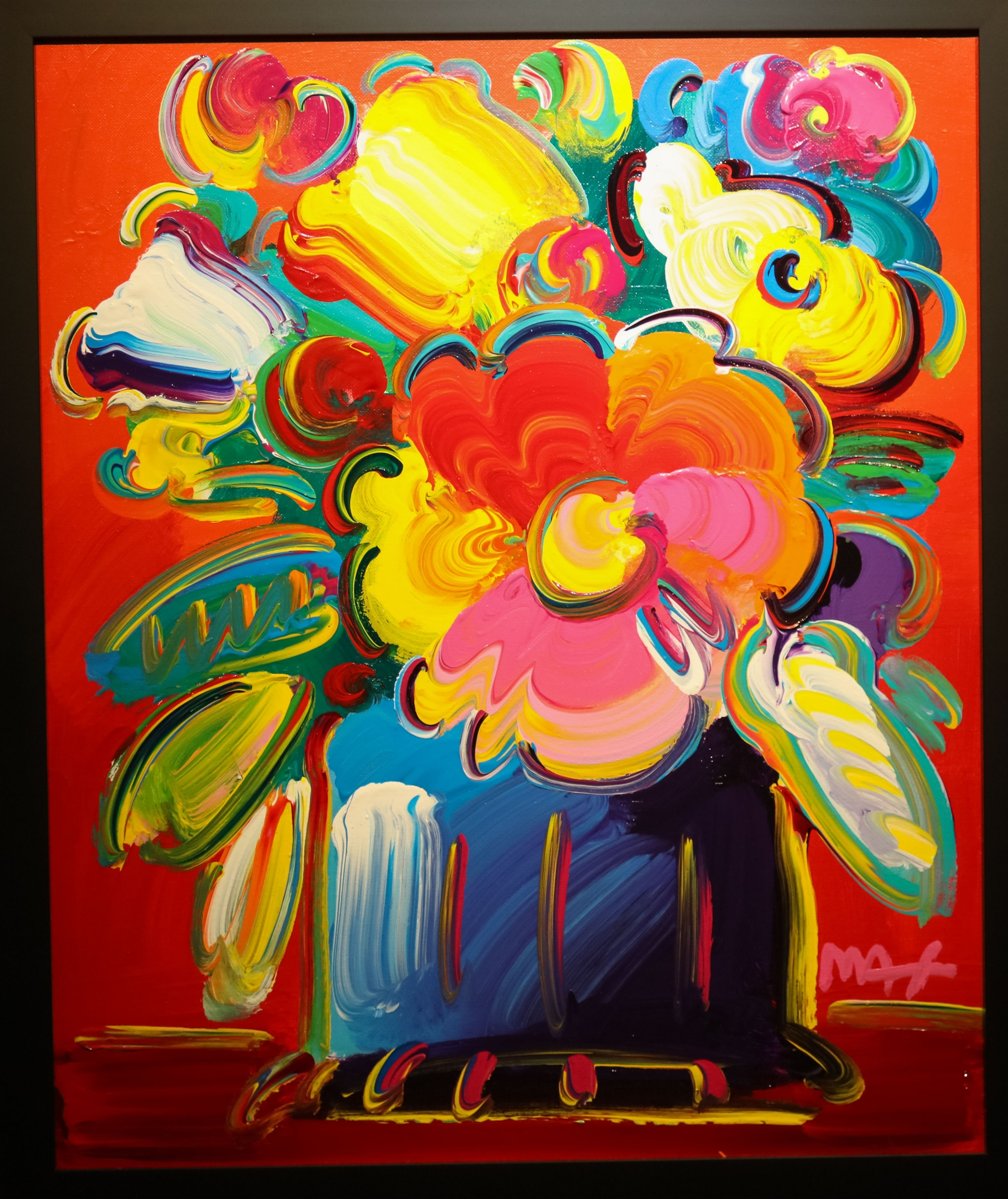 ABSTRACT FLOWERS -Available as Commission by Peter Max