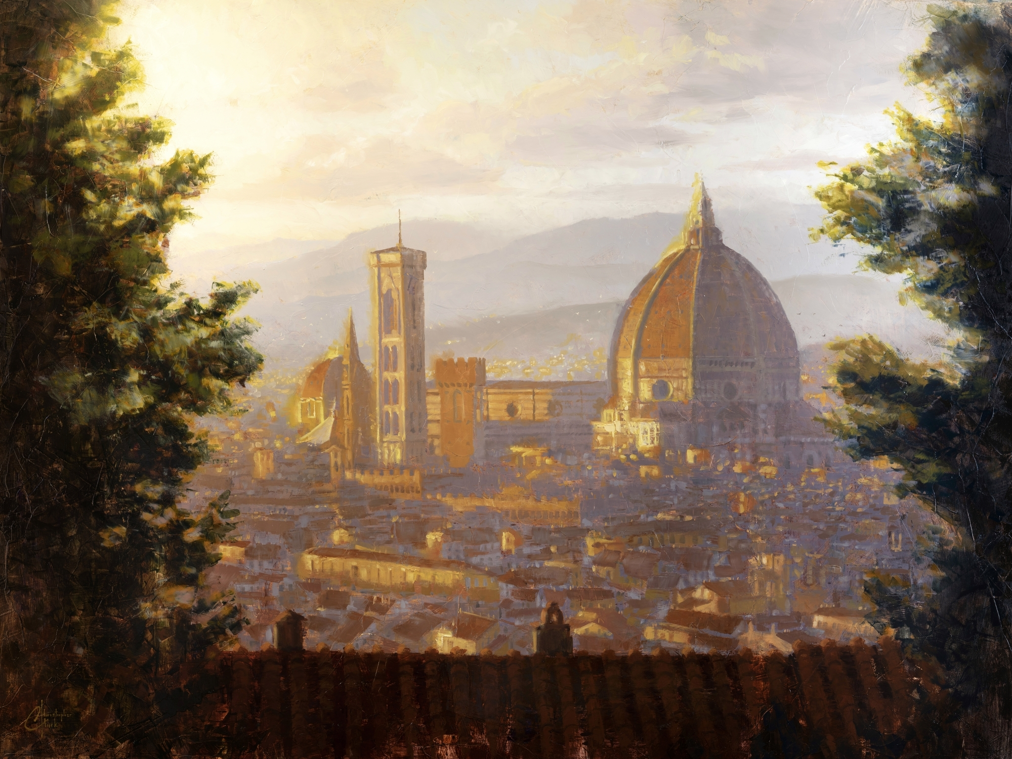 Florence, Italy - Duomo from a Distance by Christopher Clark