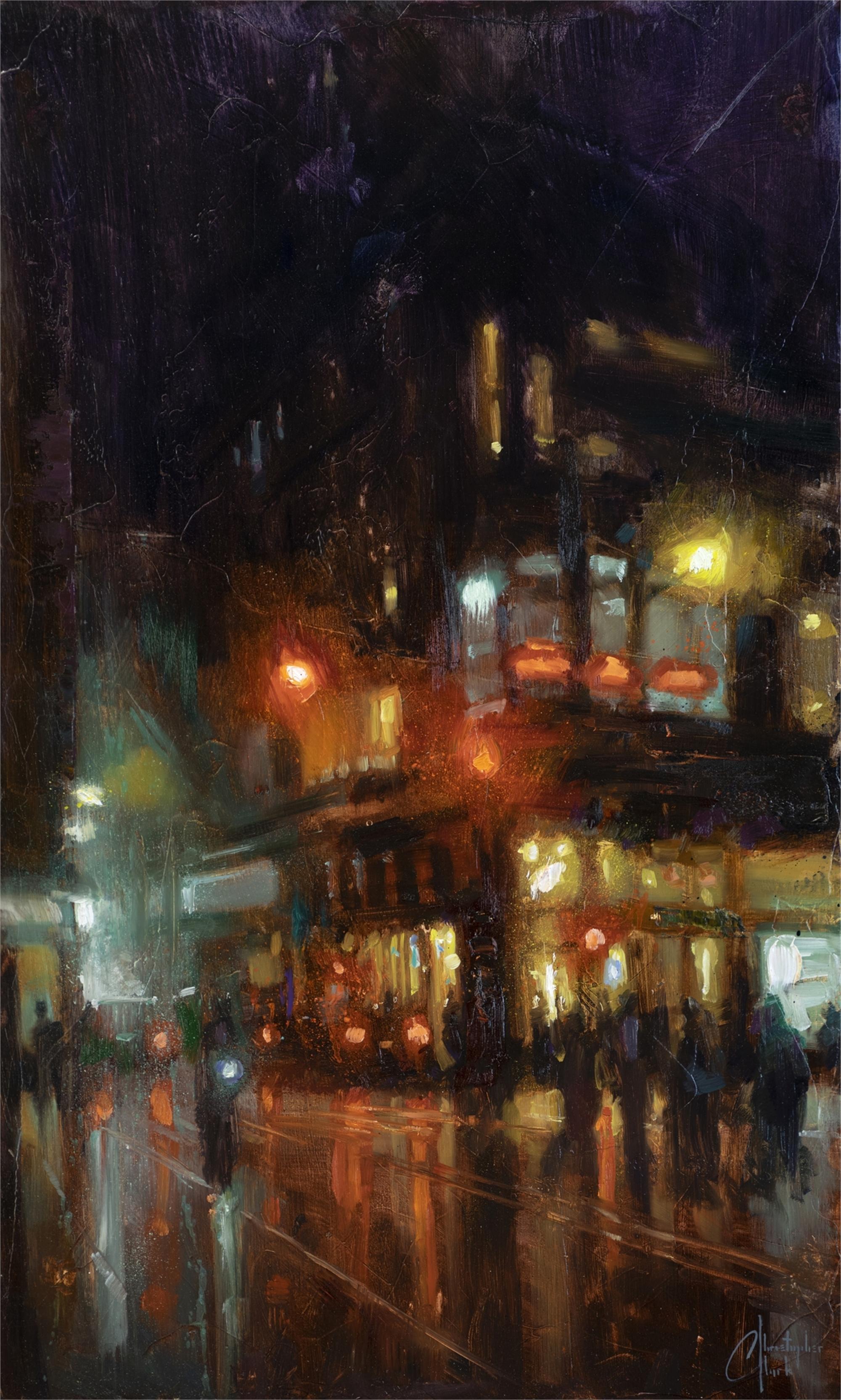 Bustling Corner by Christopher Clark