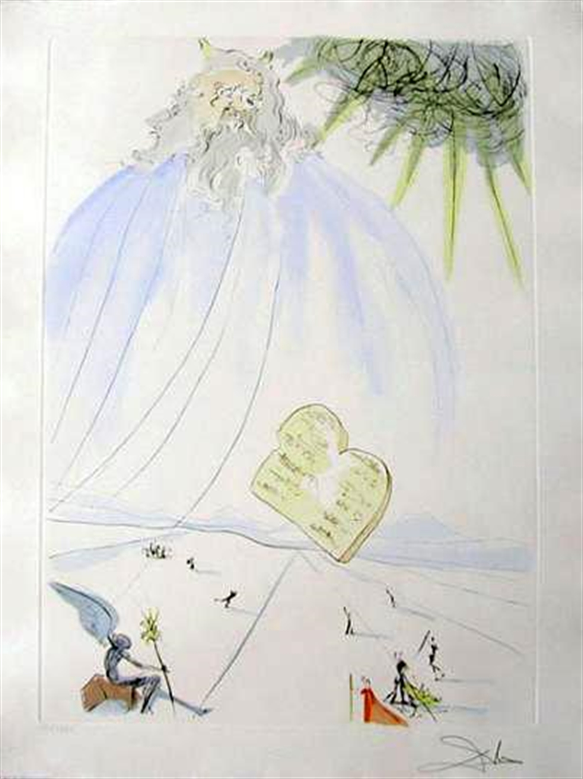 Moses (from Our Historical Heritage, suite of 11) by Salvador Dali