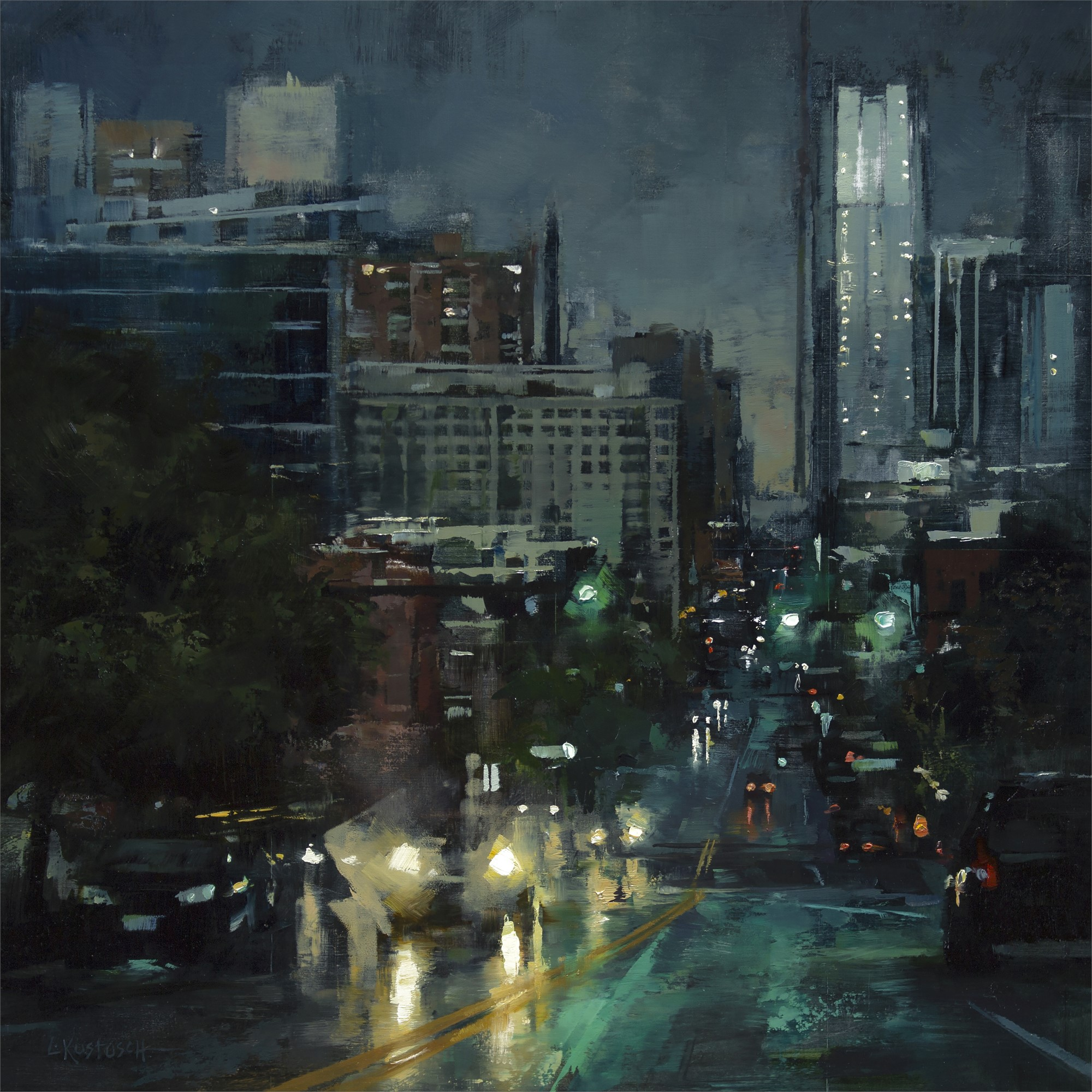 The City at Dusk by Lindsey Kustusch