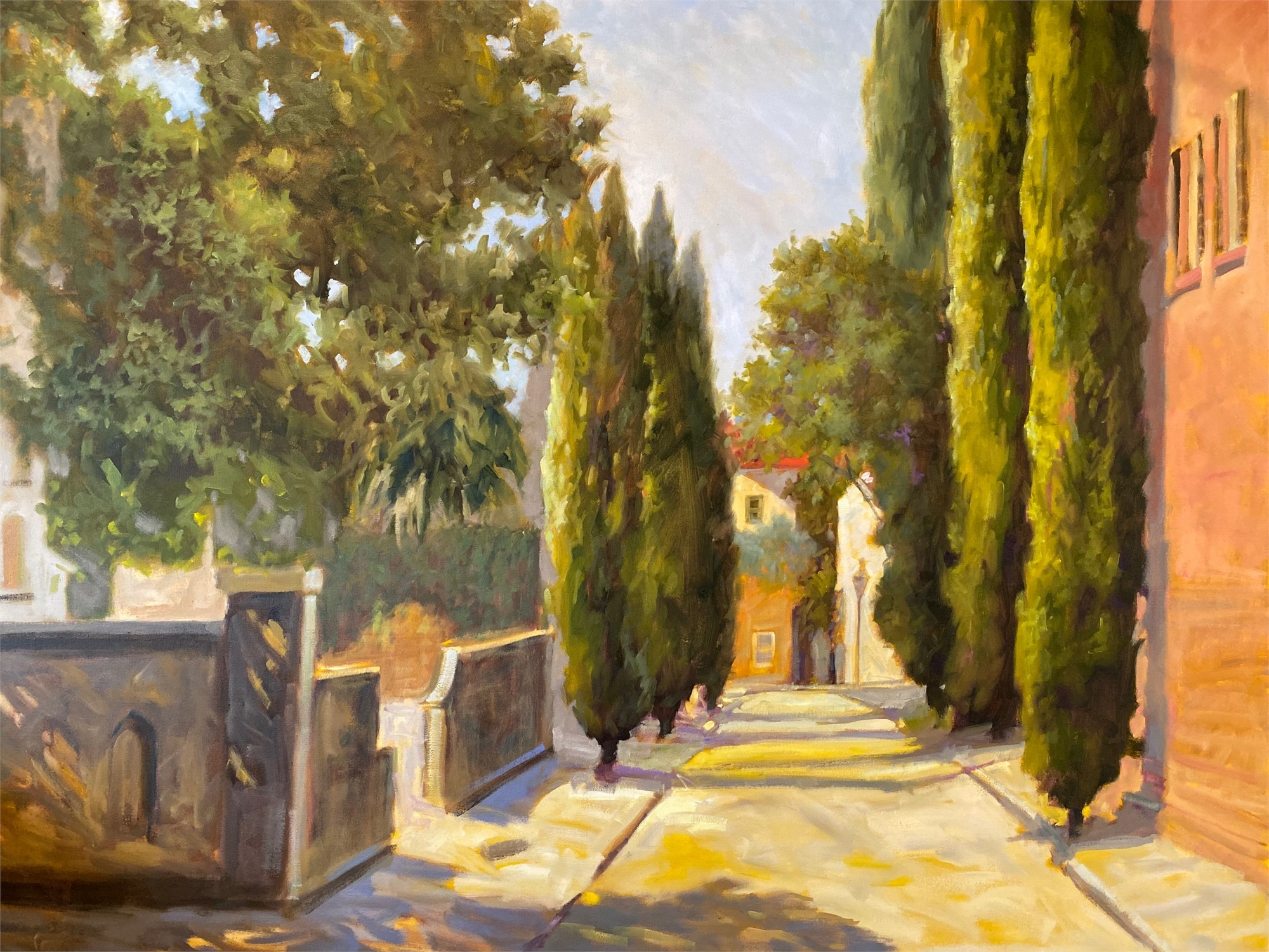 Cypress on St. Michael's Alley by Laurie Meyer