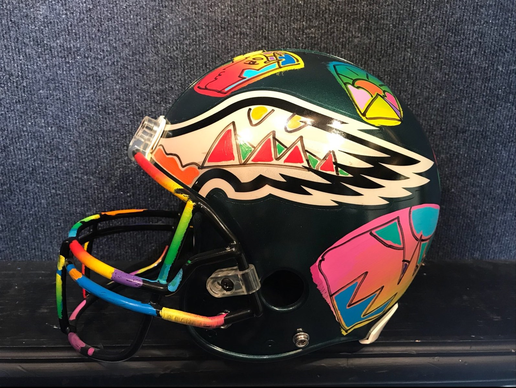 Eagles Full Size Helmet by Peter Max