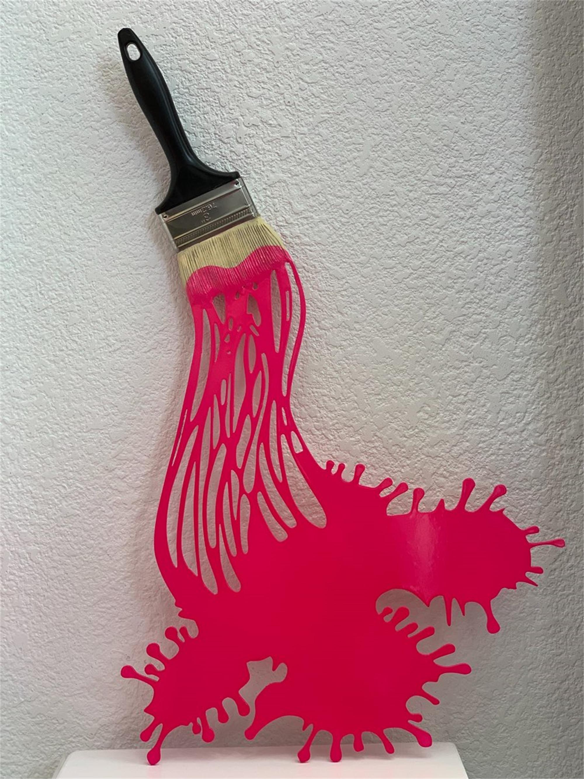 """"""" Lets Paint"""" Metal Brush Red by Efi Mashiah"""