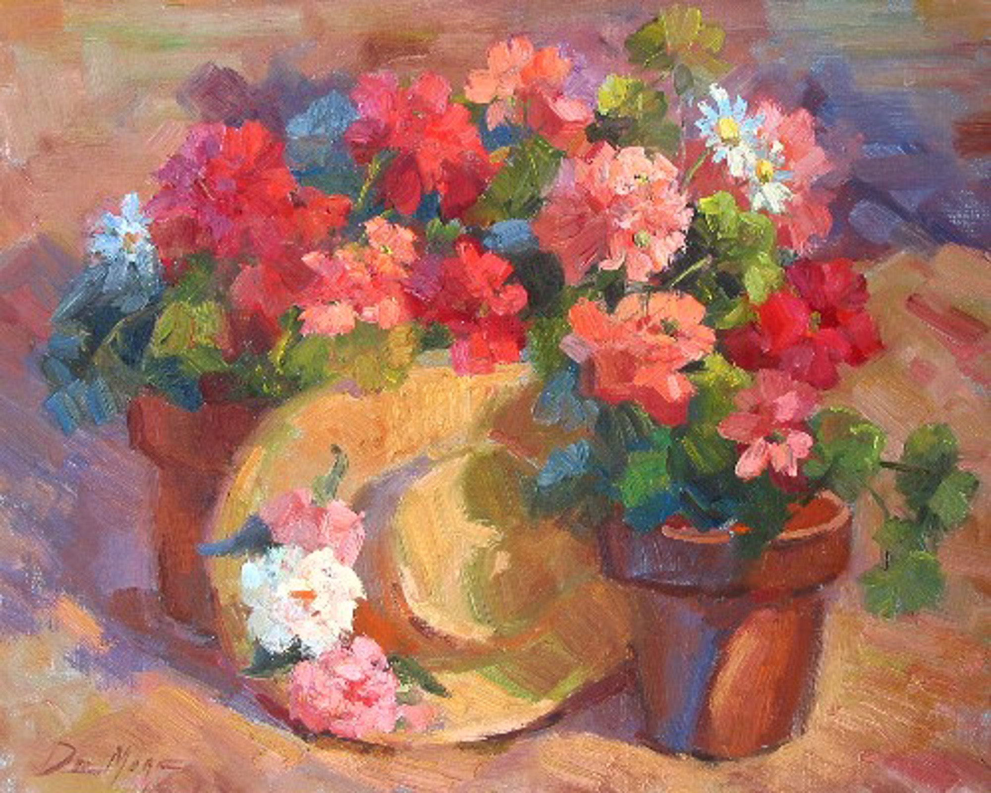 FLOWER POT AND HAT by DeMORE
