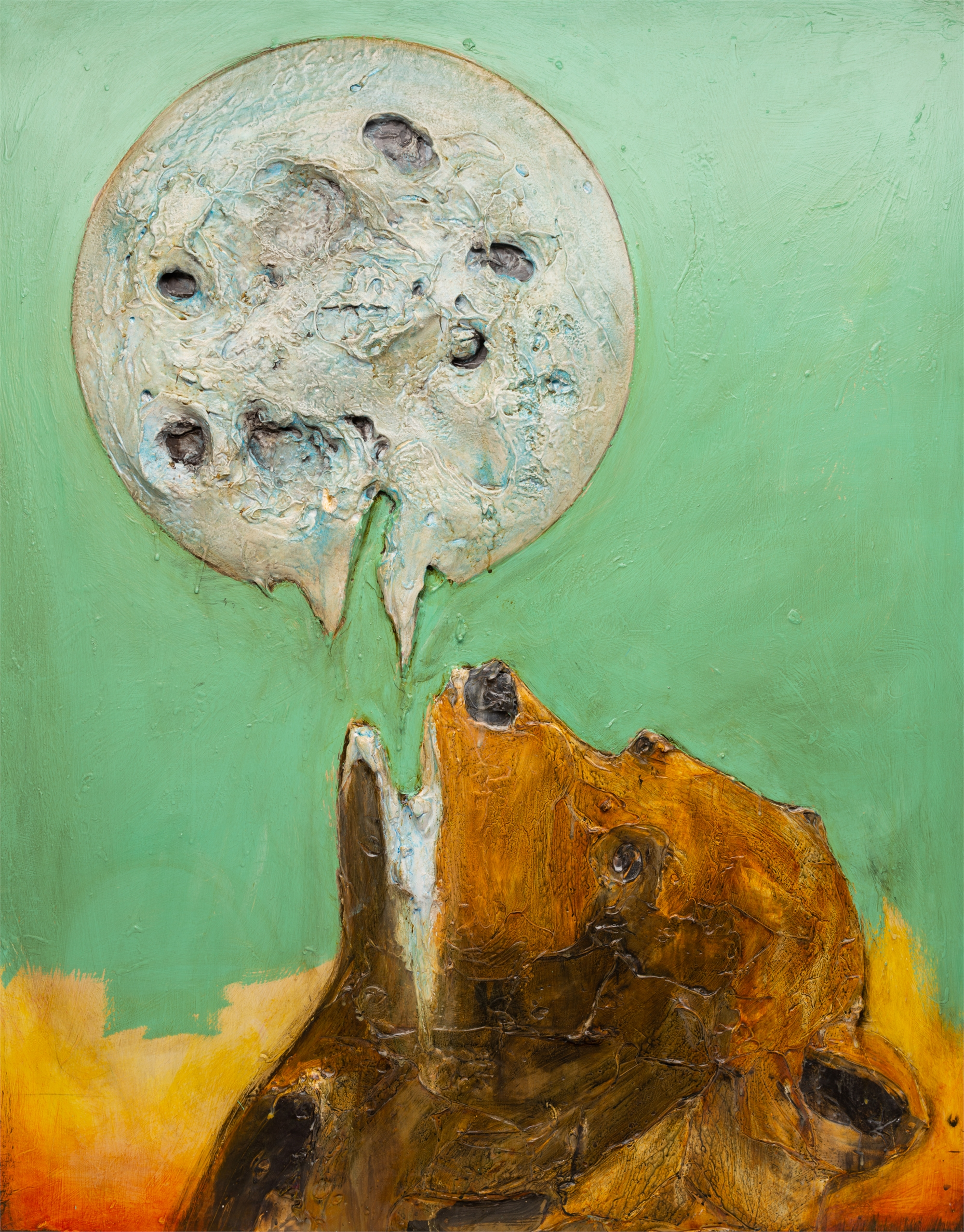 BEAR AND MOON MS-40X50-2019-316 by JUSTIN GAFFREY