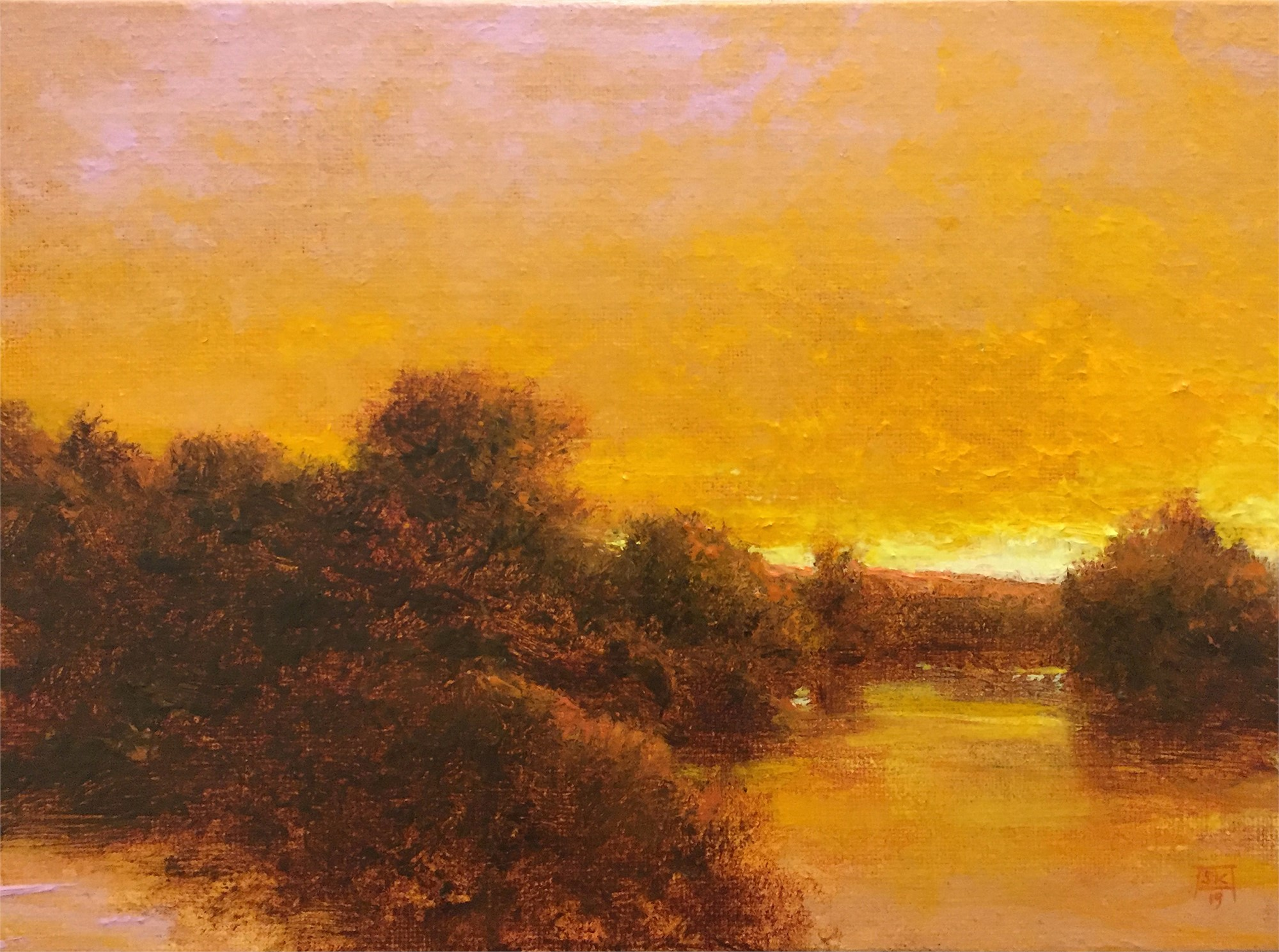 Golden Evening, Grand River by Shawn Krueger