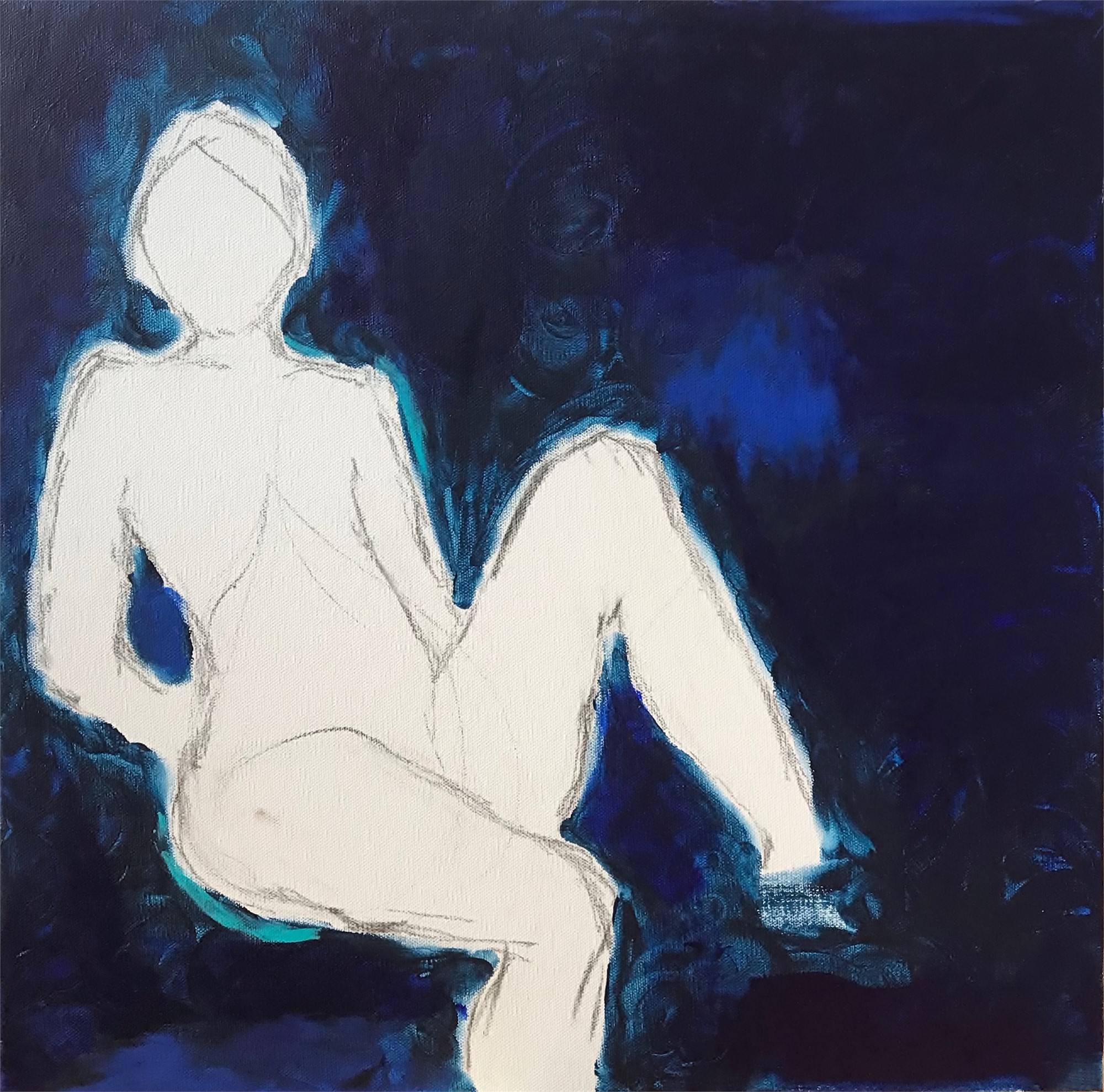 Blue Figure by Leslie Poteet Busker