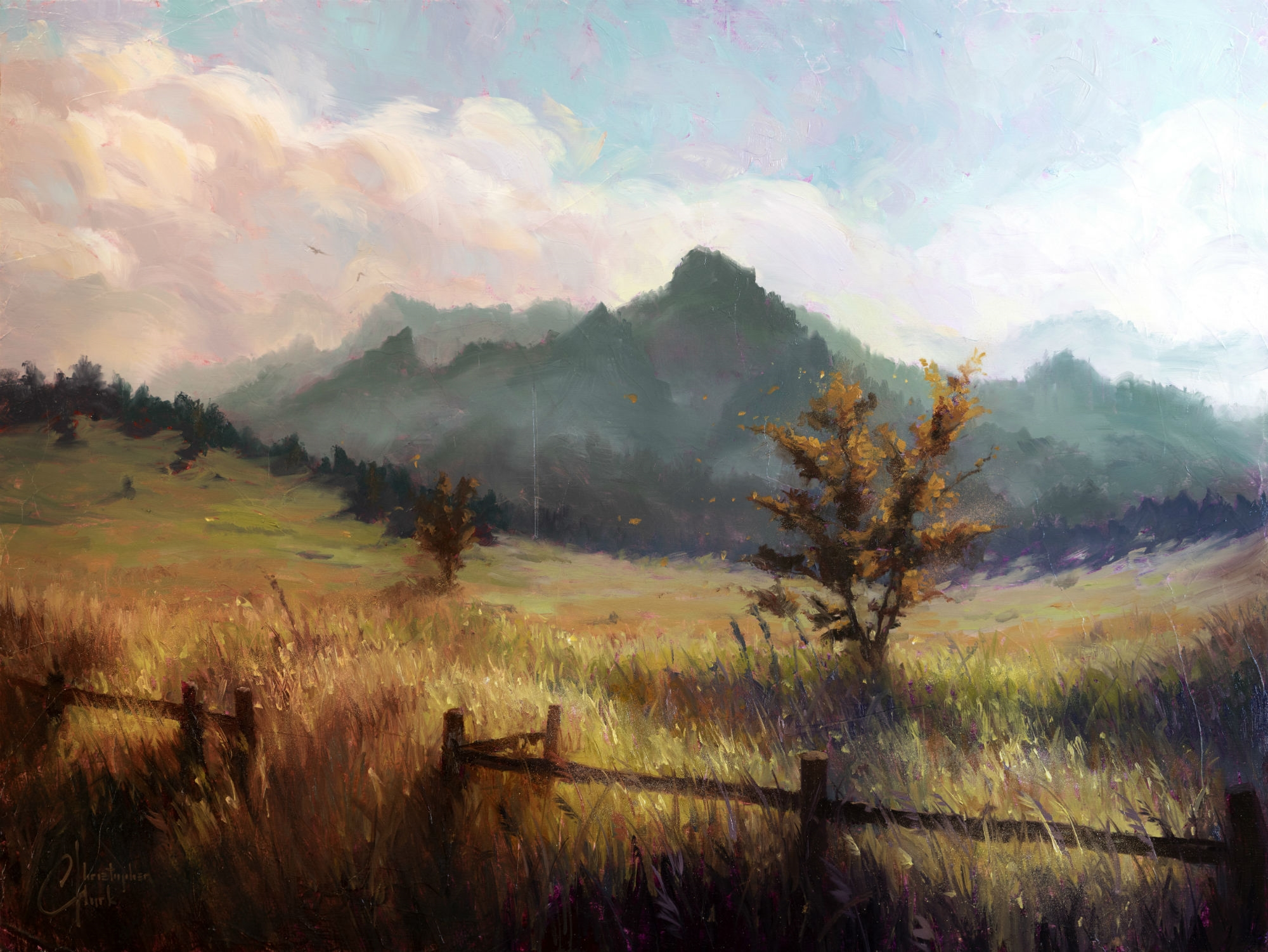 Flatiron Mountains by Christopher Clark