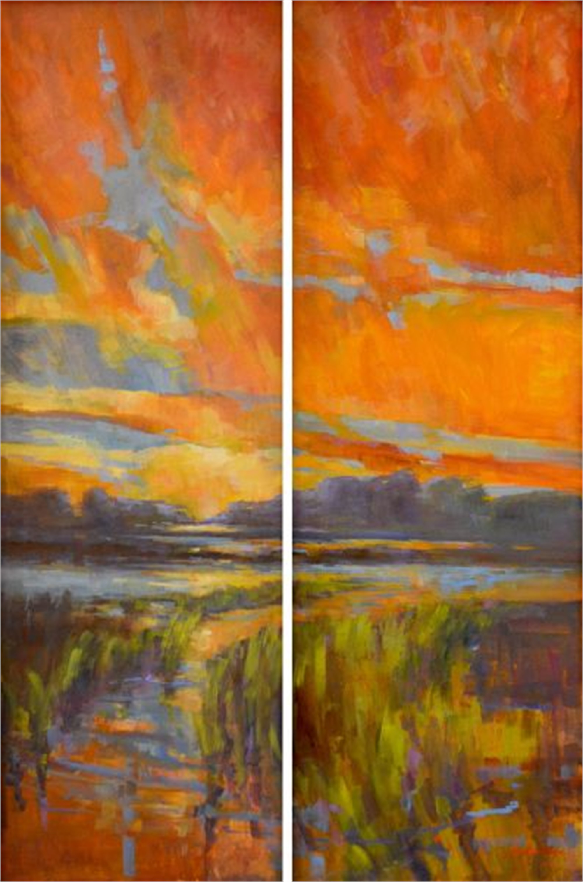 Lowcountry Wonder (Diptych) by Karen Hewitt Hagan