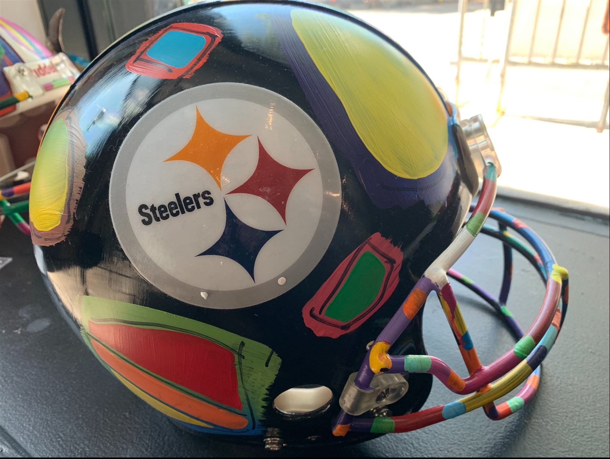 Pittsburgh Steeler's Helmet - Full Size by Peter Max