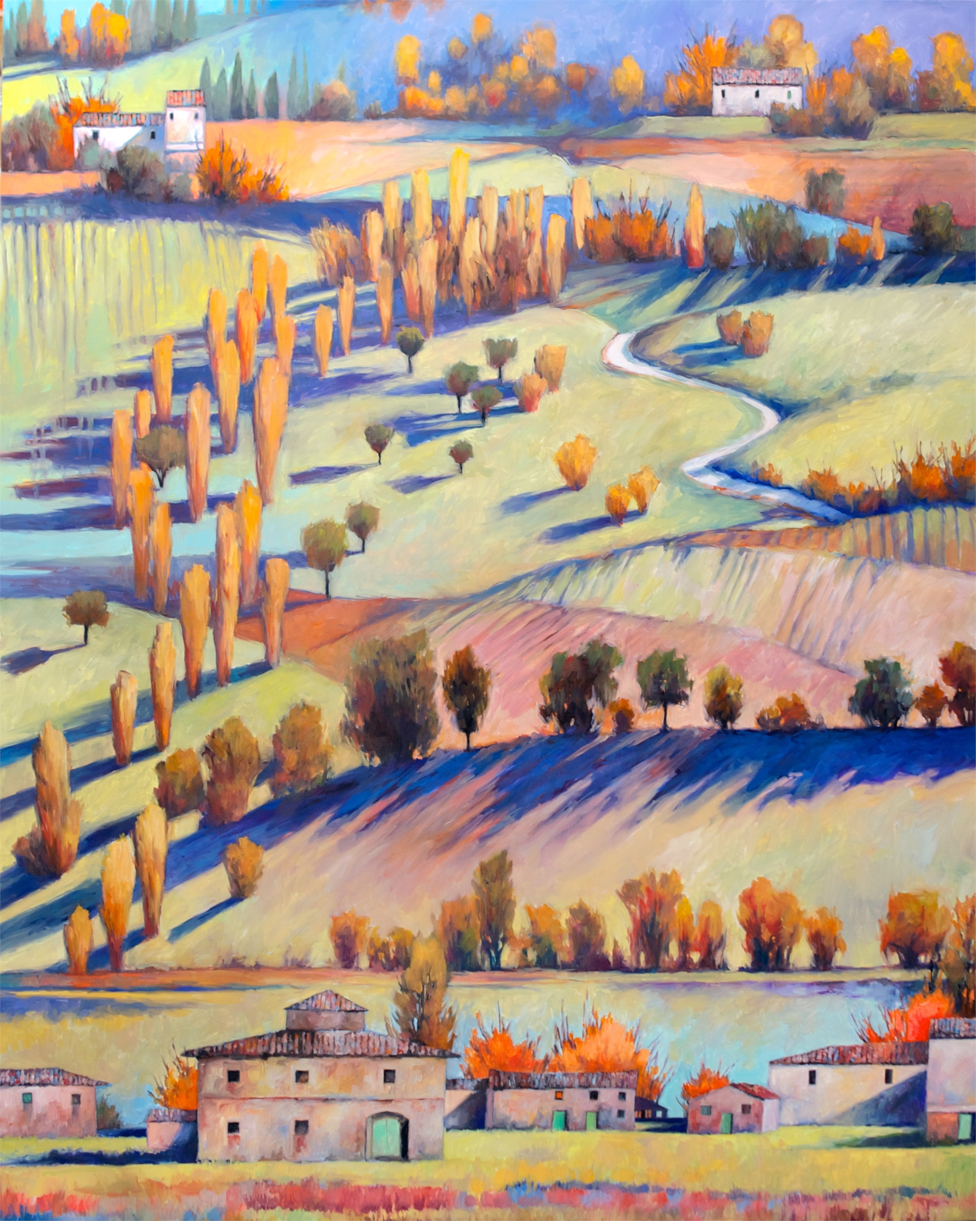 Landscape in Layers by Sandra Langston