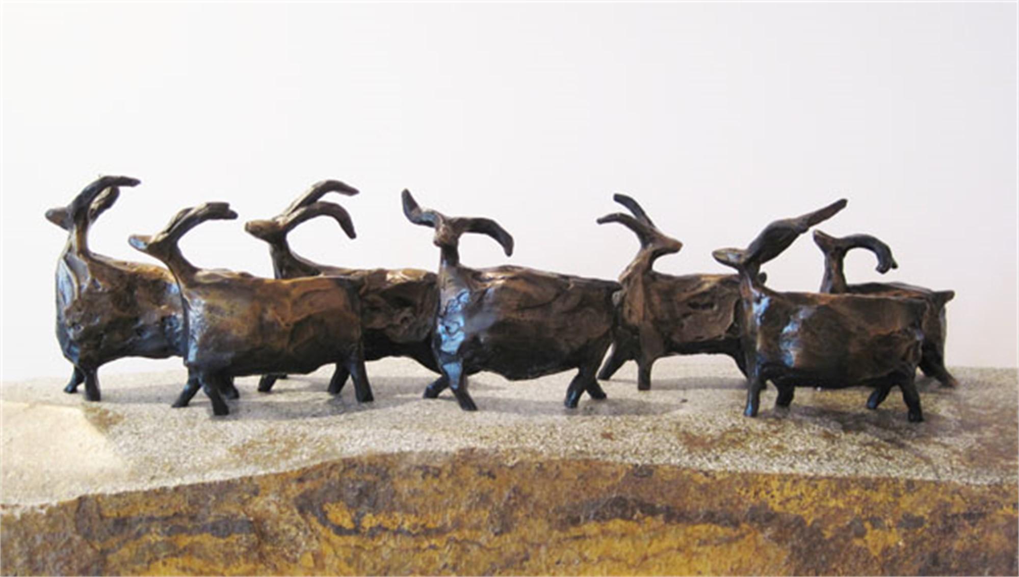 ROAMING SHEEP - BRONZE - priced individually by Jill Shwaiko