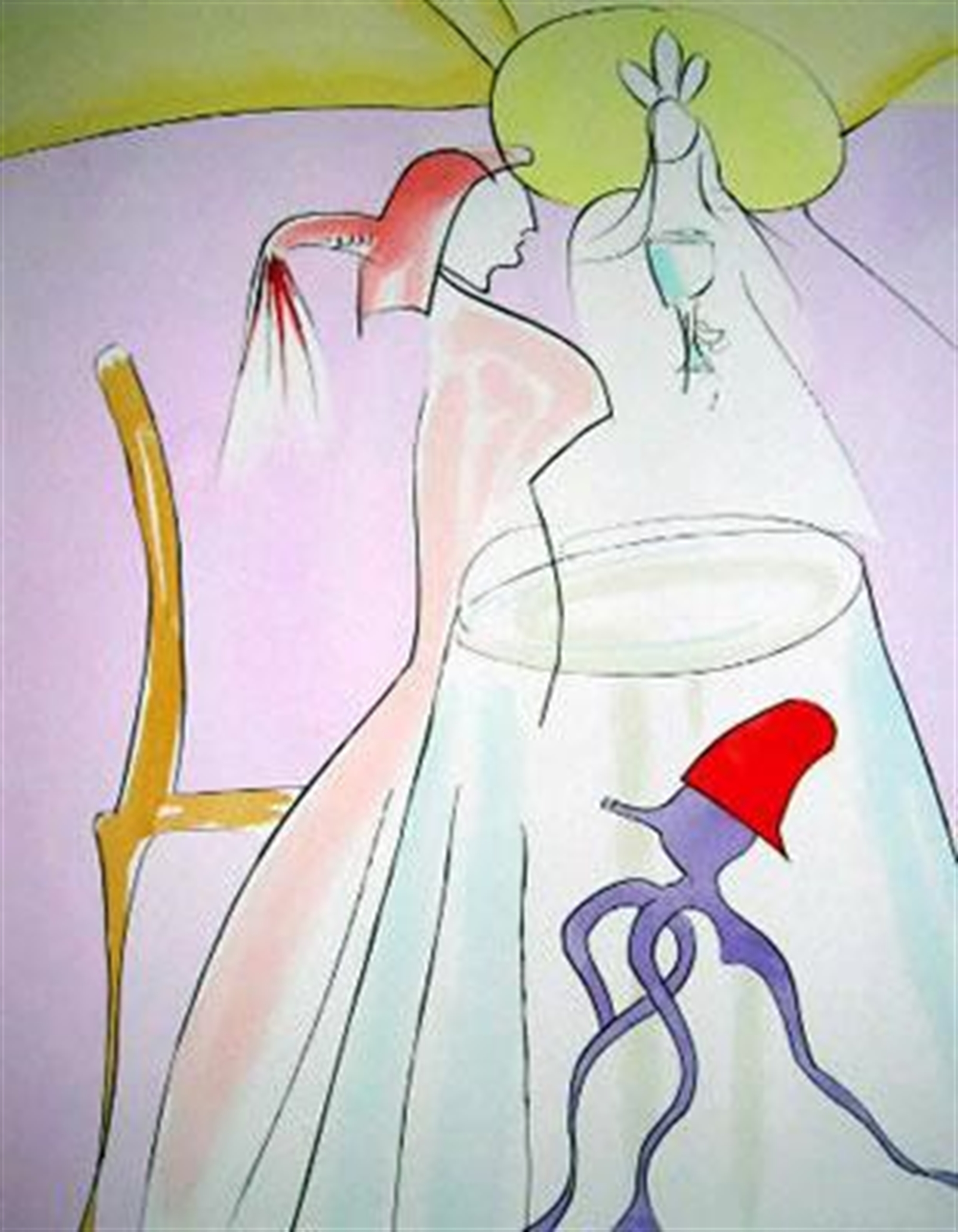 Urashima Taro (Japanese Fairy Tales, suite of 10) by Salvador Dali