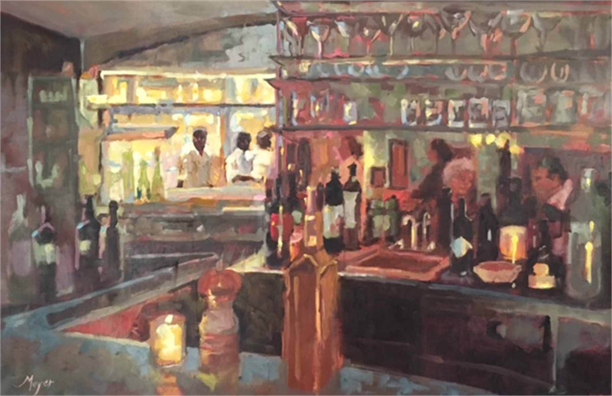 Mirror Mirror on the Bar by Laurie Meyer