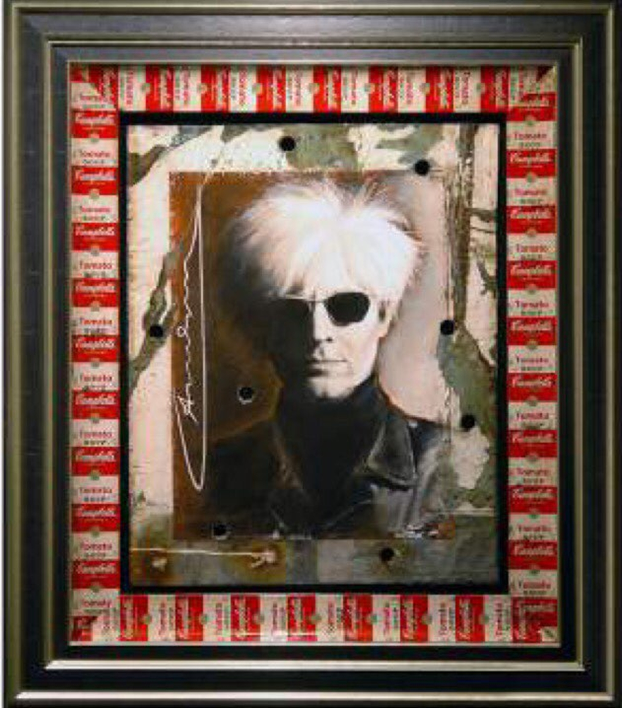 Warhol With Andy Warhol Signature on Card by Bill Mack