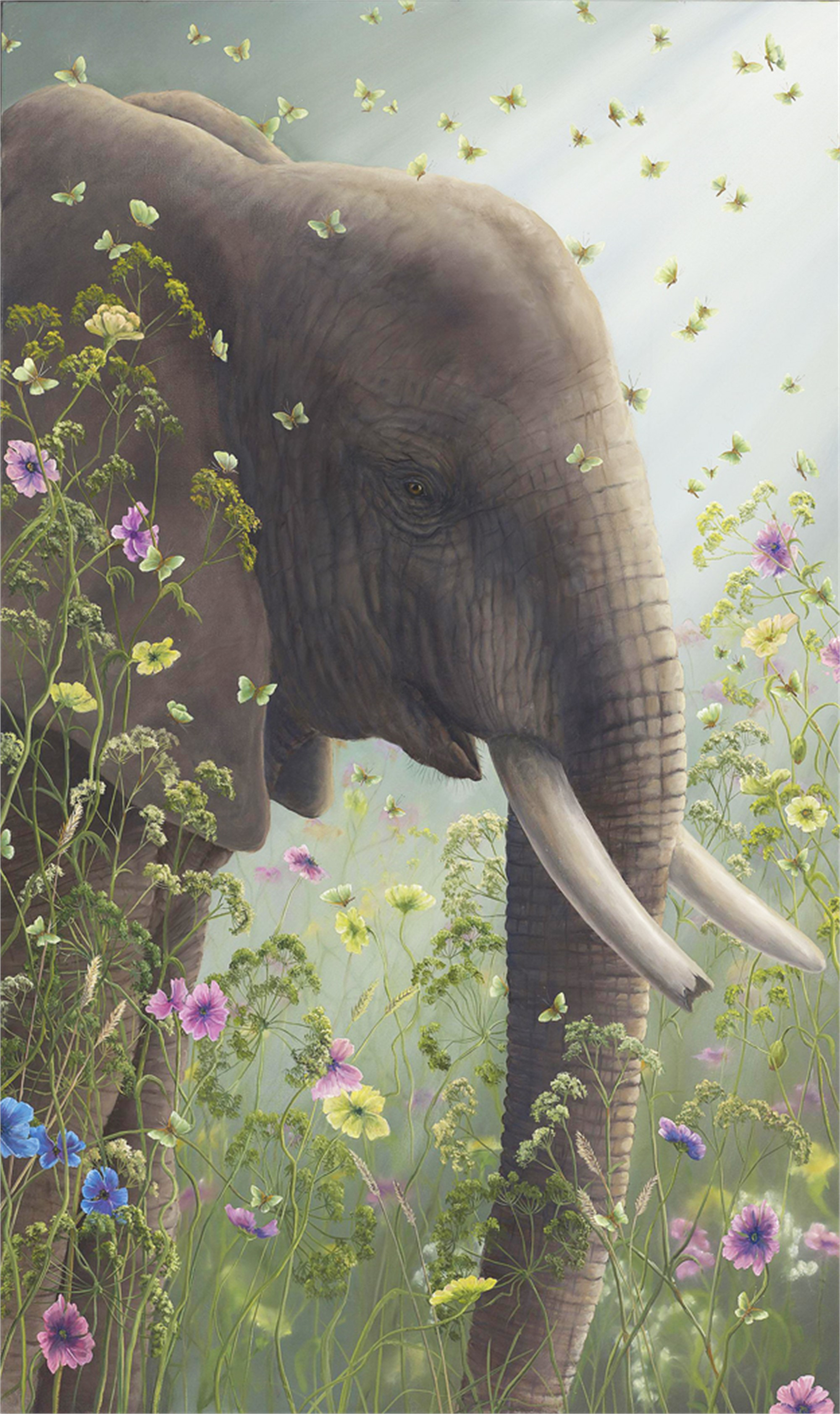 Presence I (Small Works) Elephant by Robert Bissell
