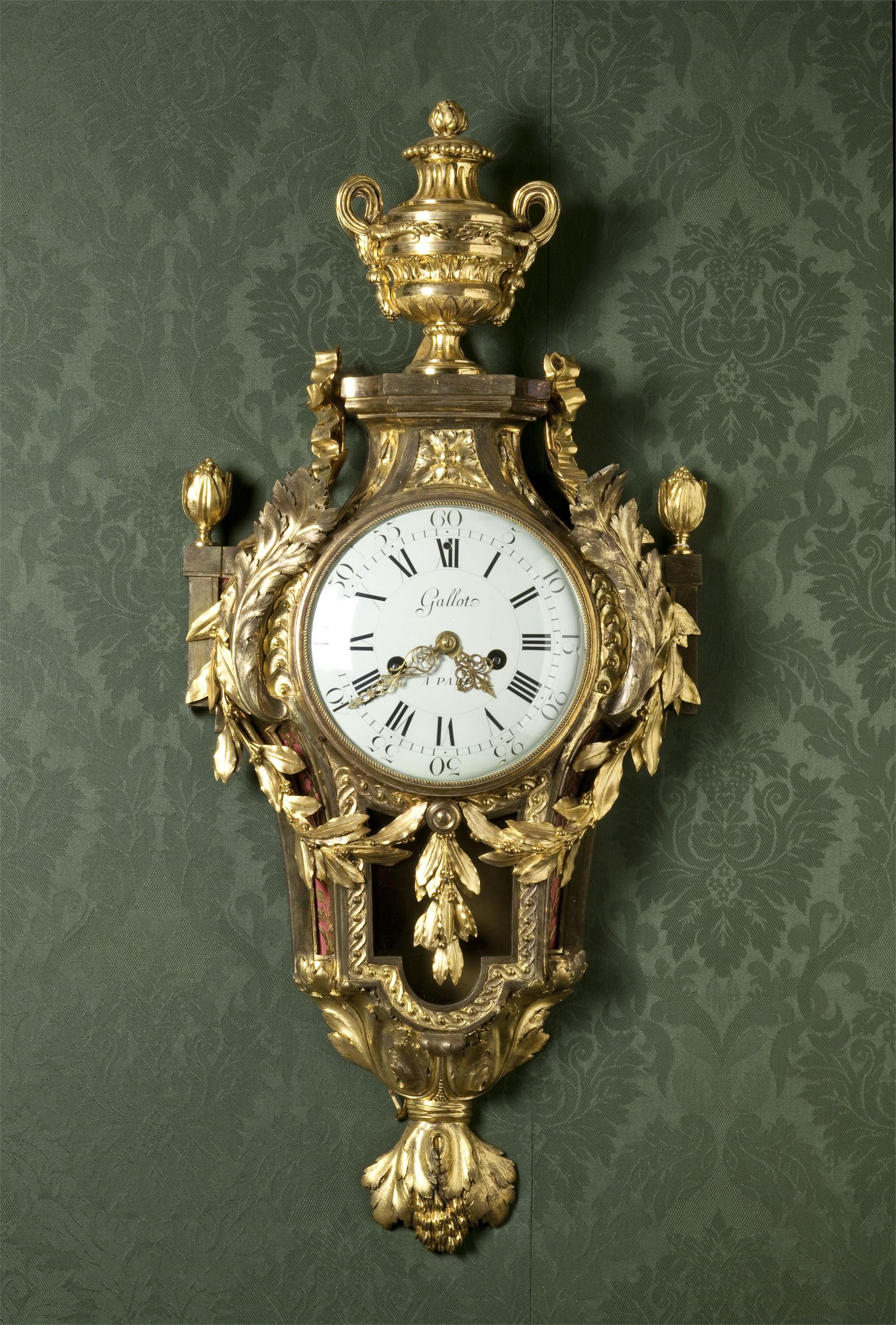 LOUIS XVI ORMOLU CARTEL CLOCK, MOVEMENT SIGNED GALLOT