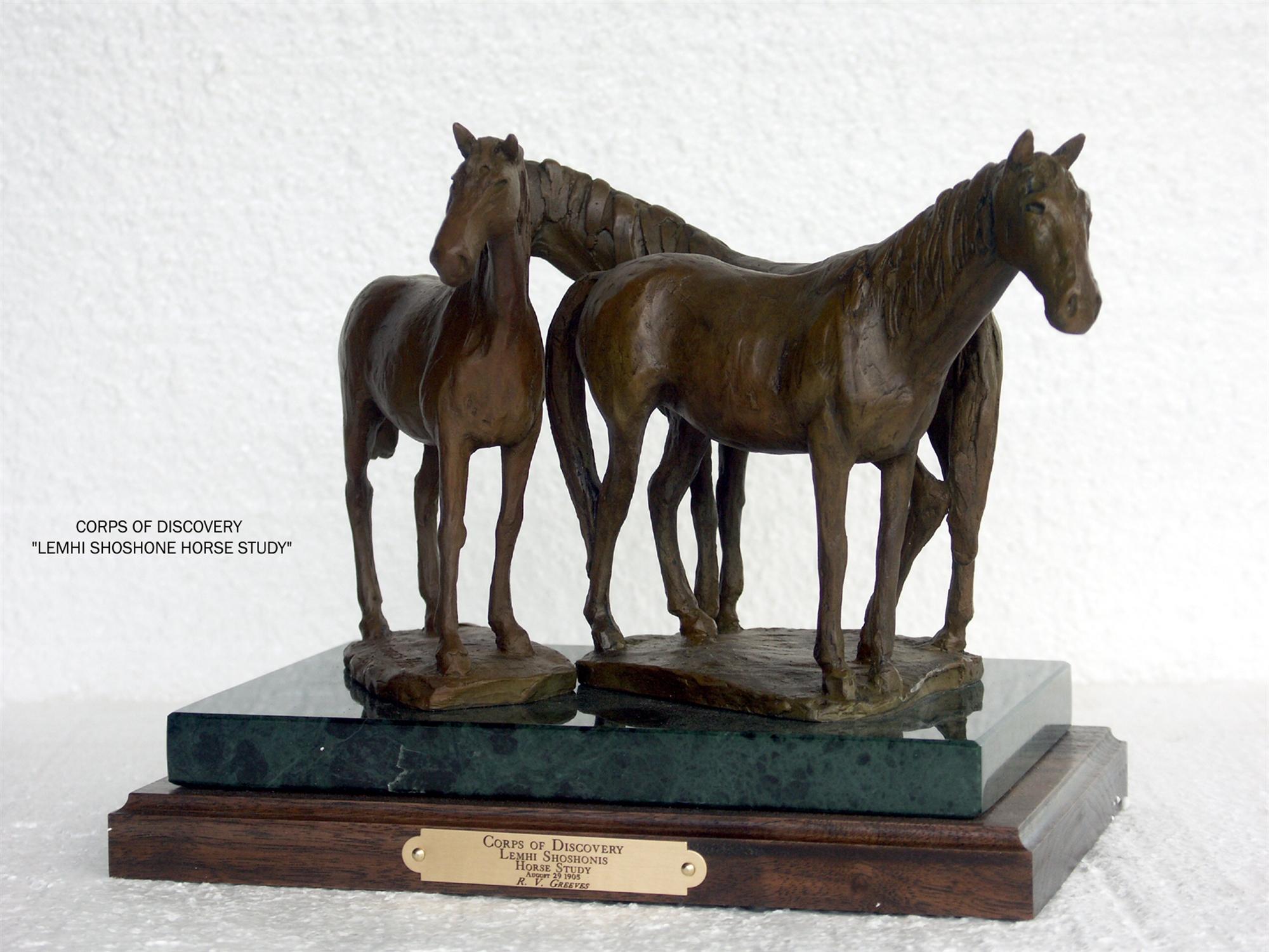 Lemhi Shoshone Horse Study by Richard Greeves