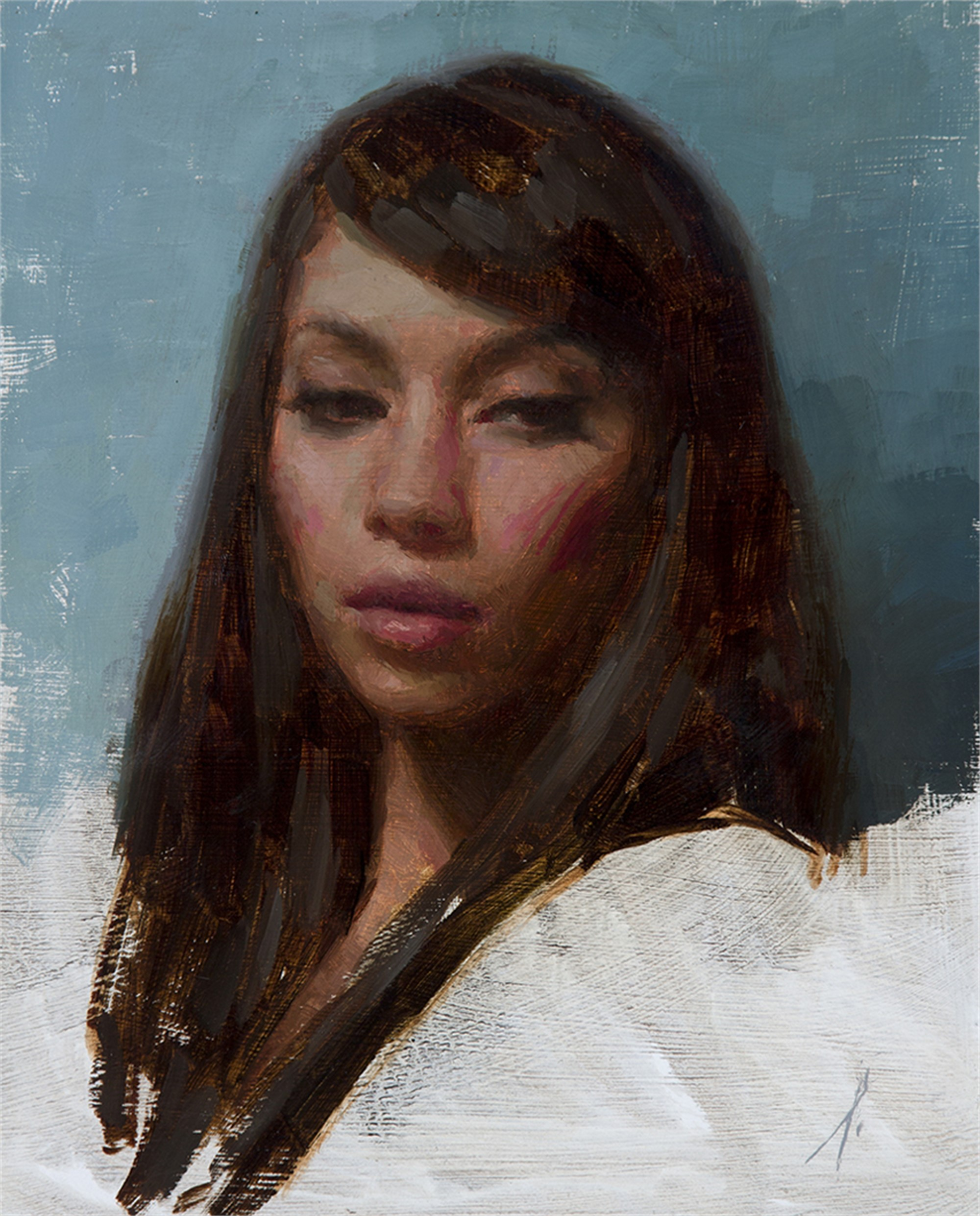 Portrait of a Young Woman by Mark Bradley Schwartz
