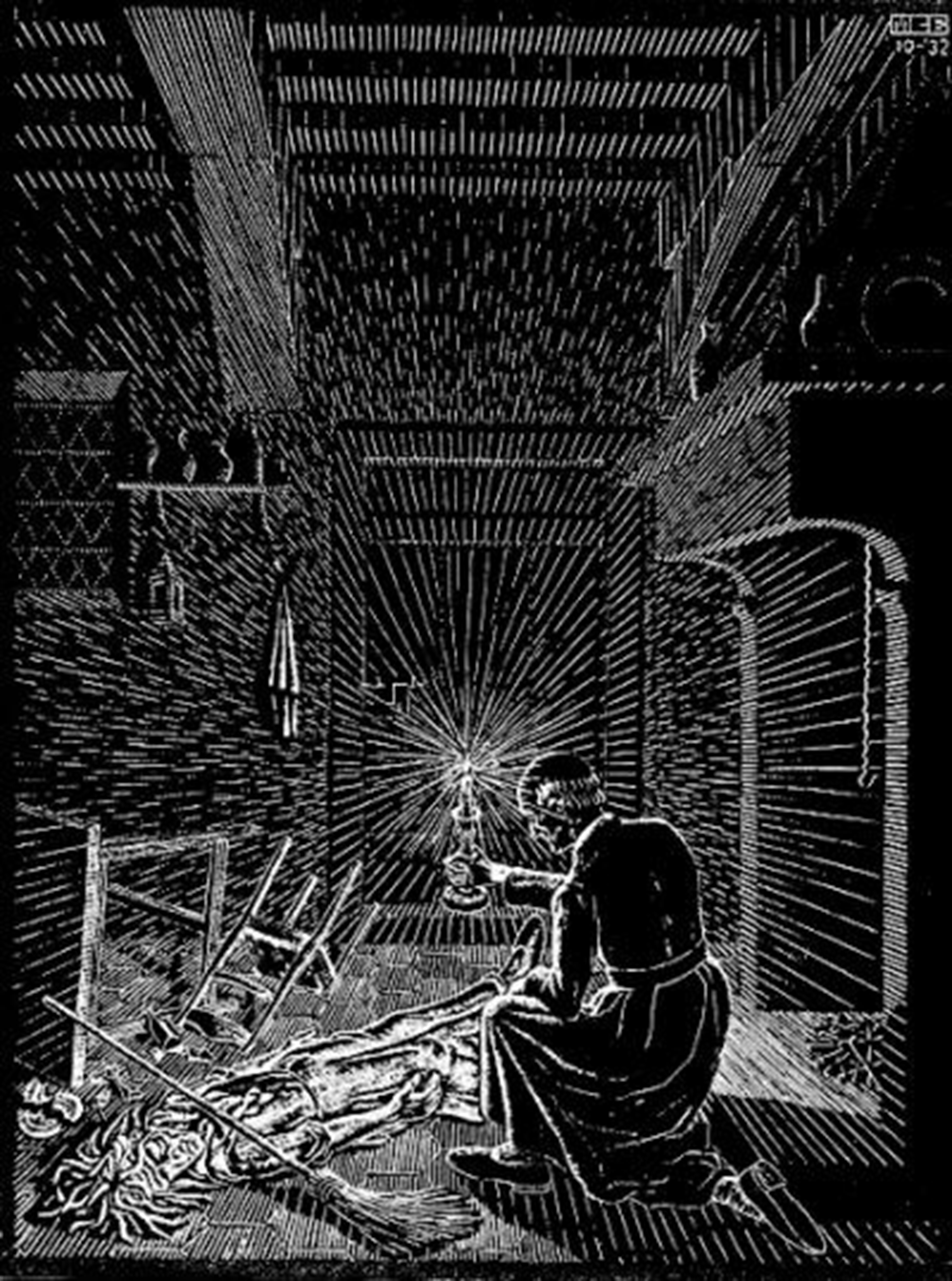 Scholastica (Bad Dream) by M.C. Escher