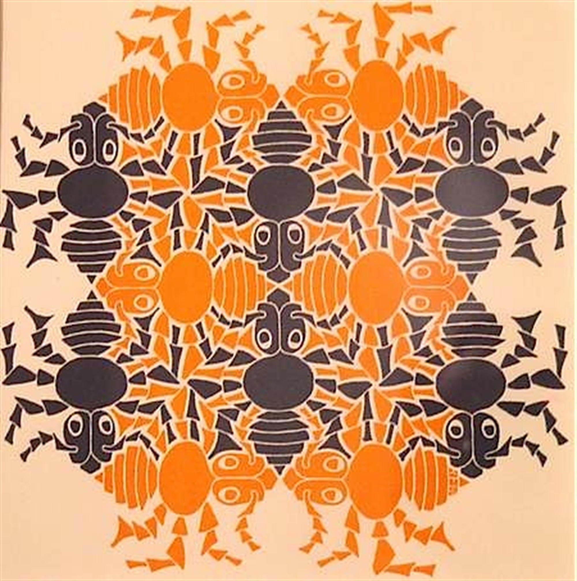 Earth, New Year's Greeting Card (Ants) by M.C. Escher