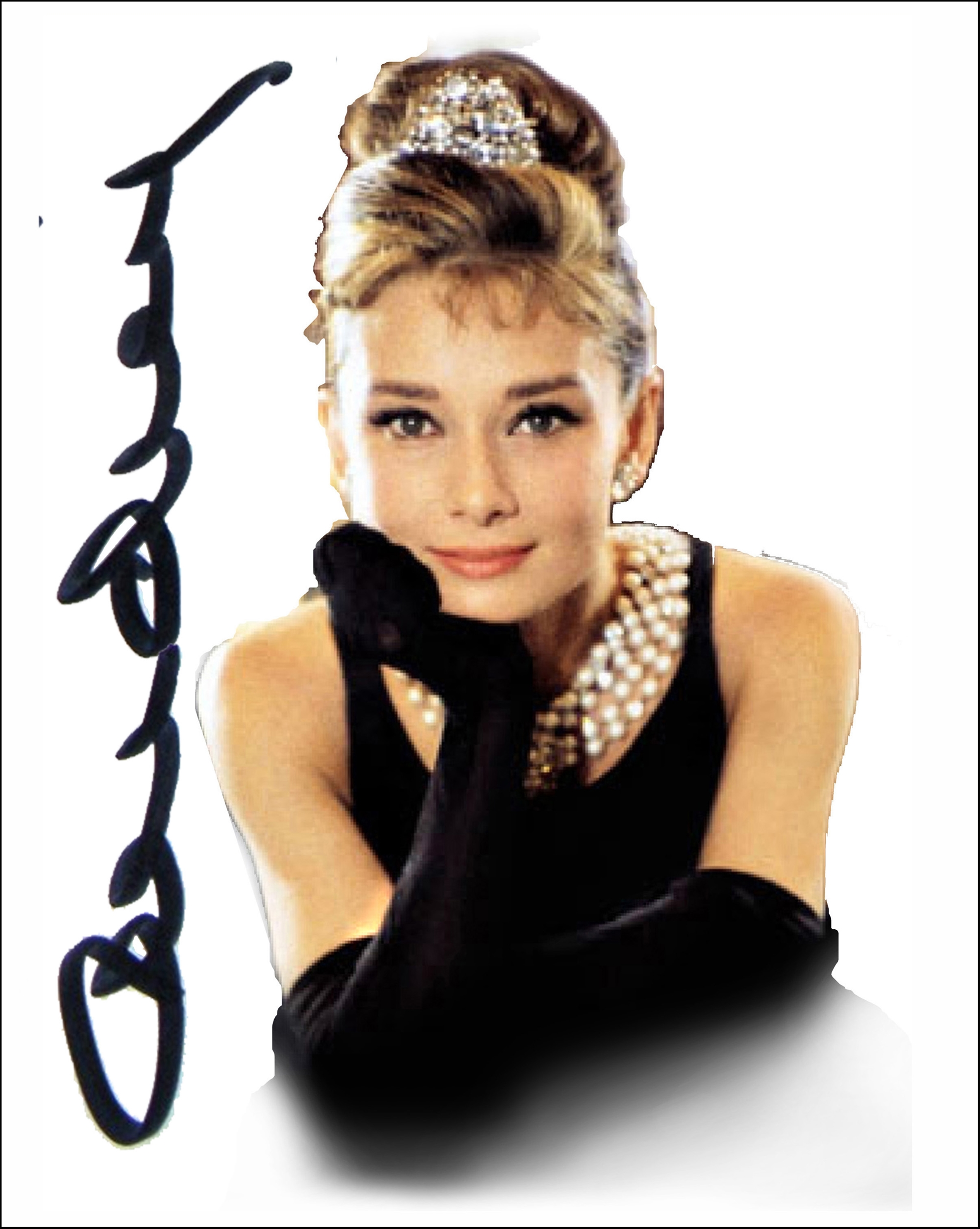 Audrey Hepburn by Bill Mack Hollywood Sign