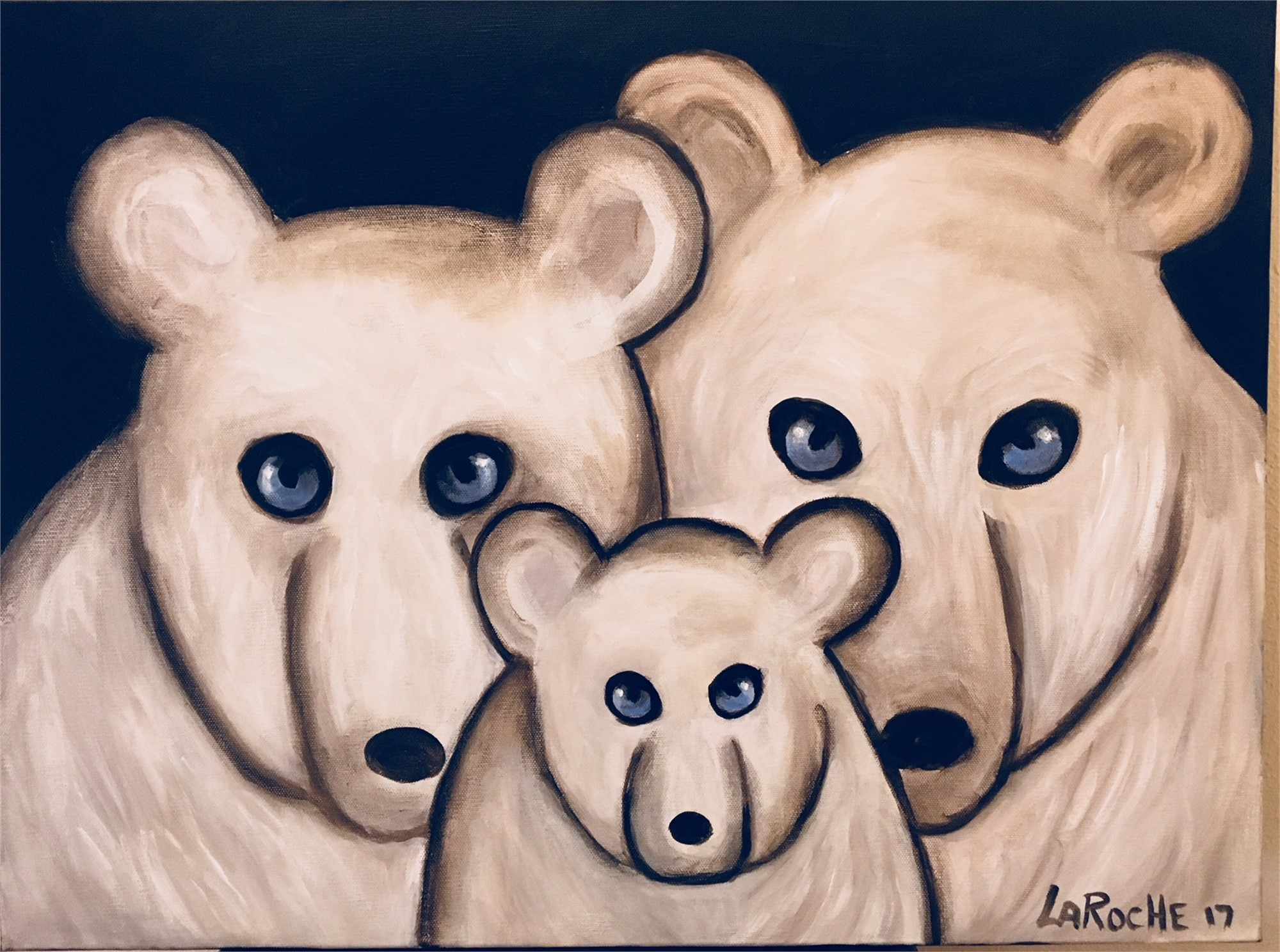 SOLD - Polar Bear Family by Carole LaRoche
