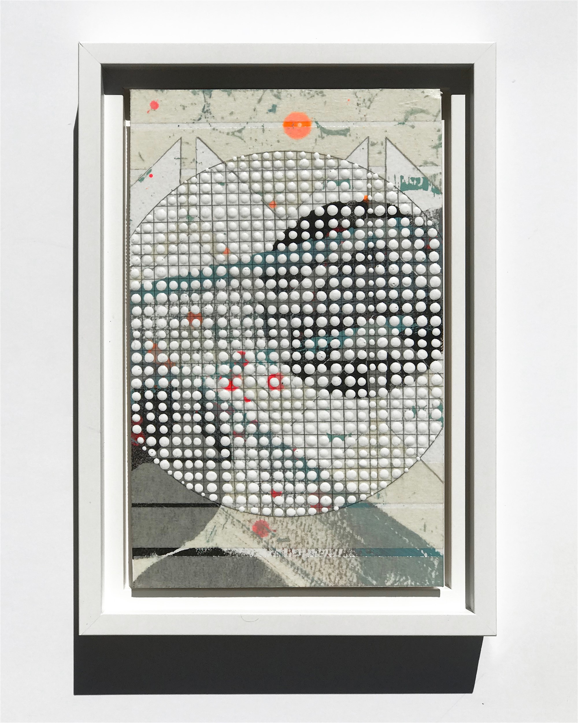 Circle, White, Study No.74 by Nina Tichava