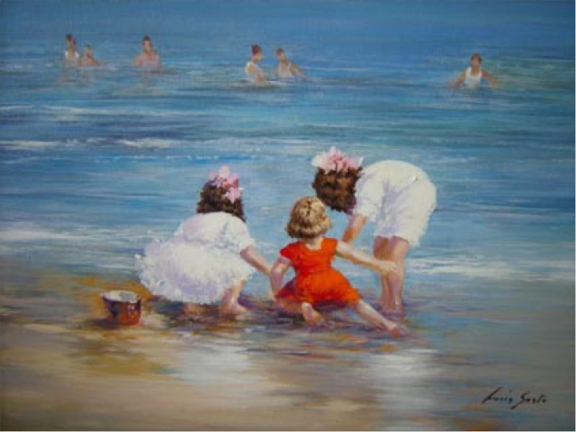 On the Beach by Lucia Sarto