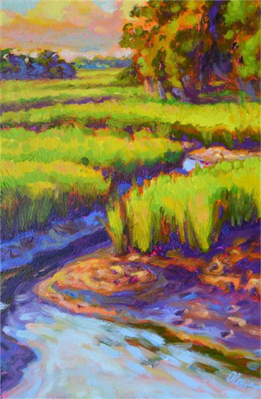 Purple Creek by Olessia Maximenko