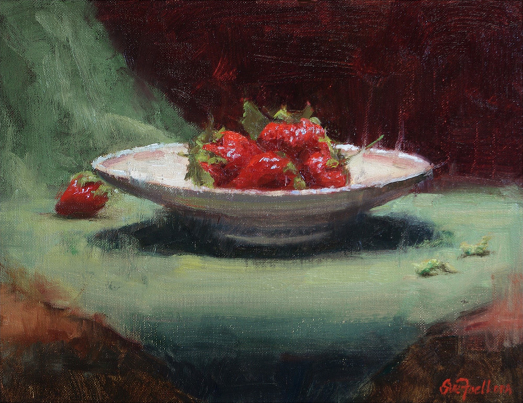 Dish of Berries by Sue Foell, OPA