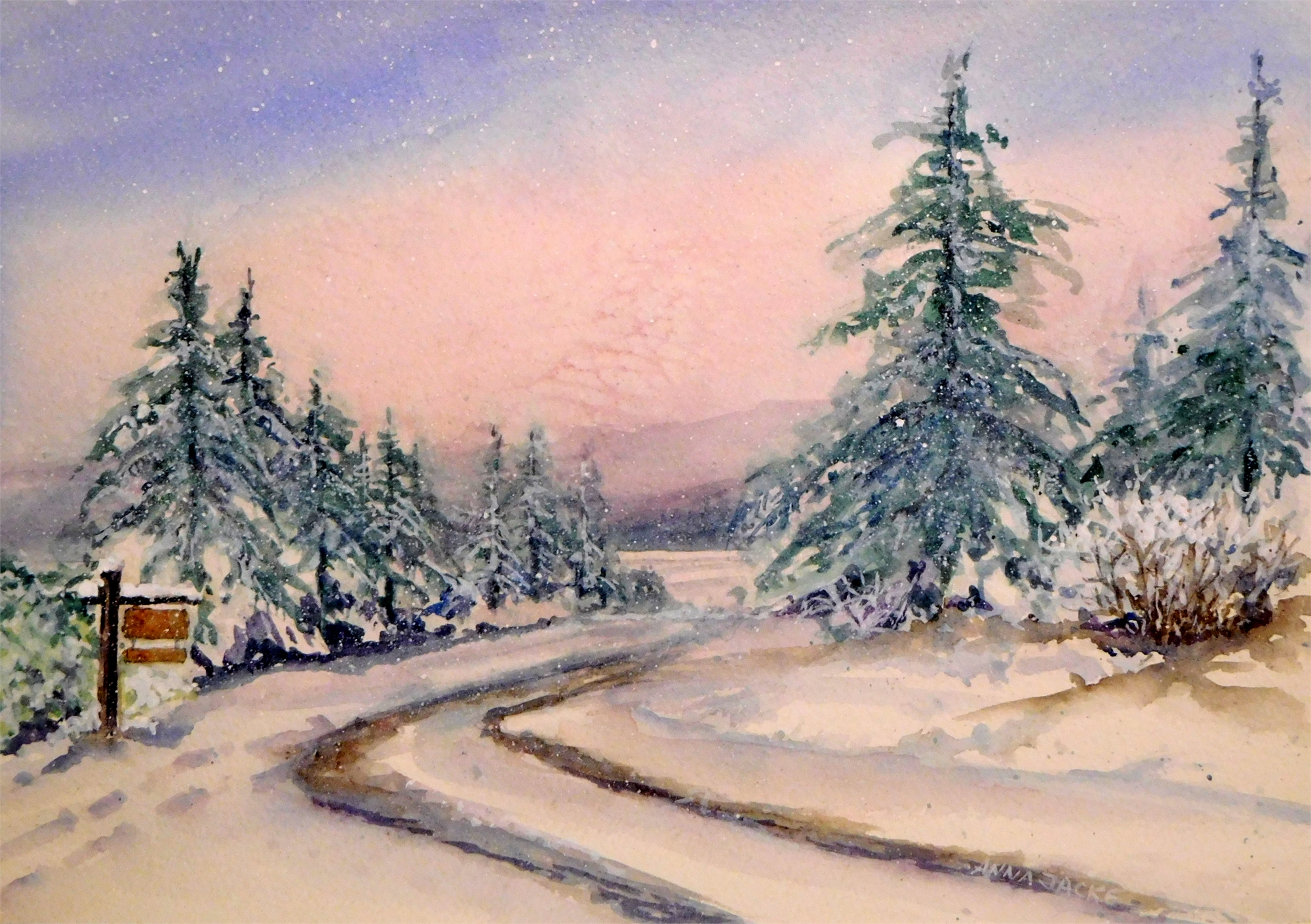 Twilight Snow by Anna Jacke (McMinnville, OR)