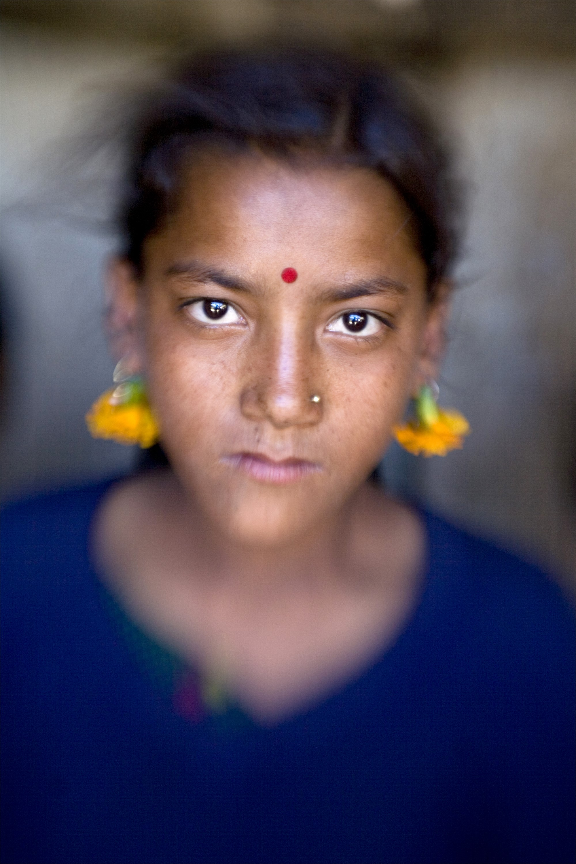 Marigold Girl, Humla Region, Nepal by Cora Edmonds