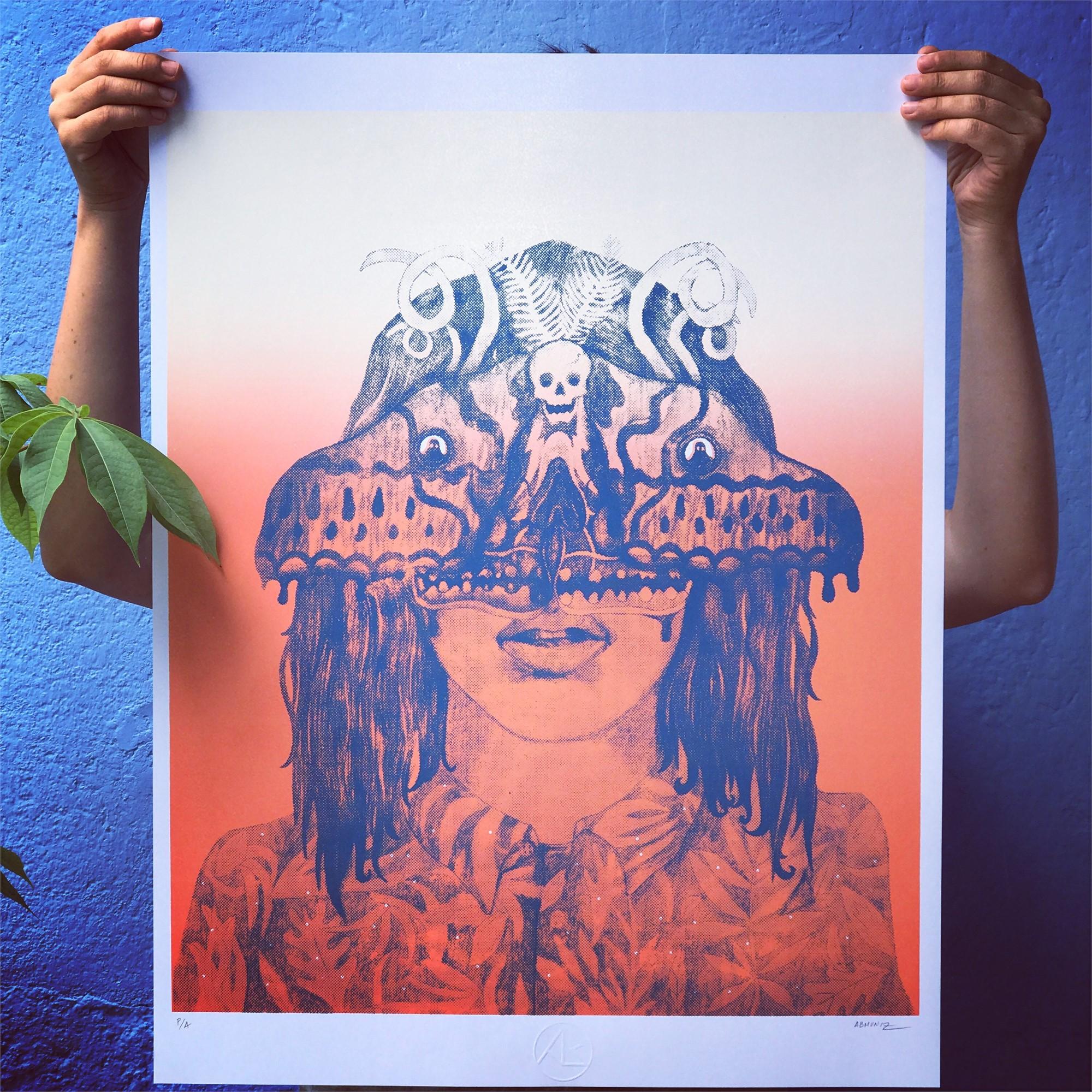 Mujer Polilla (Framed) by Alfonso Barrera