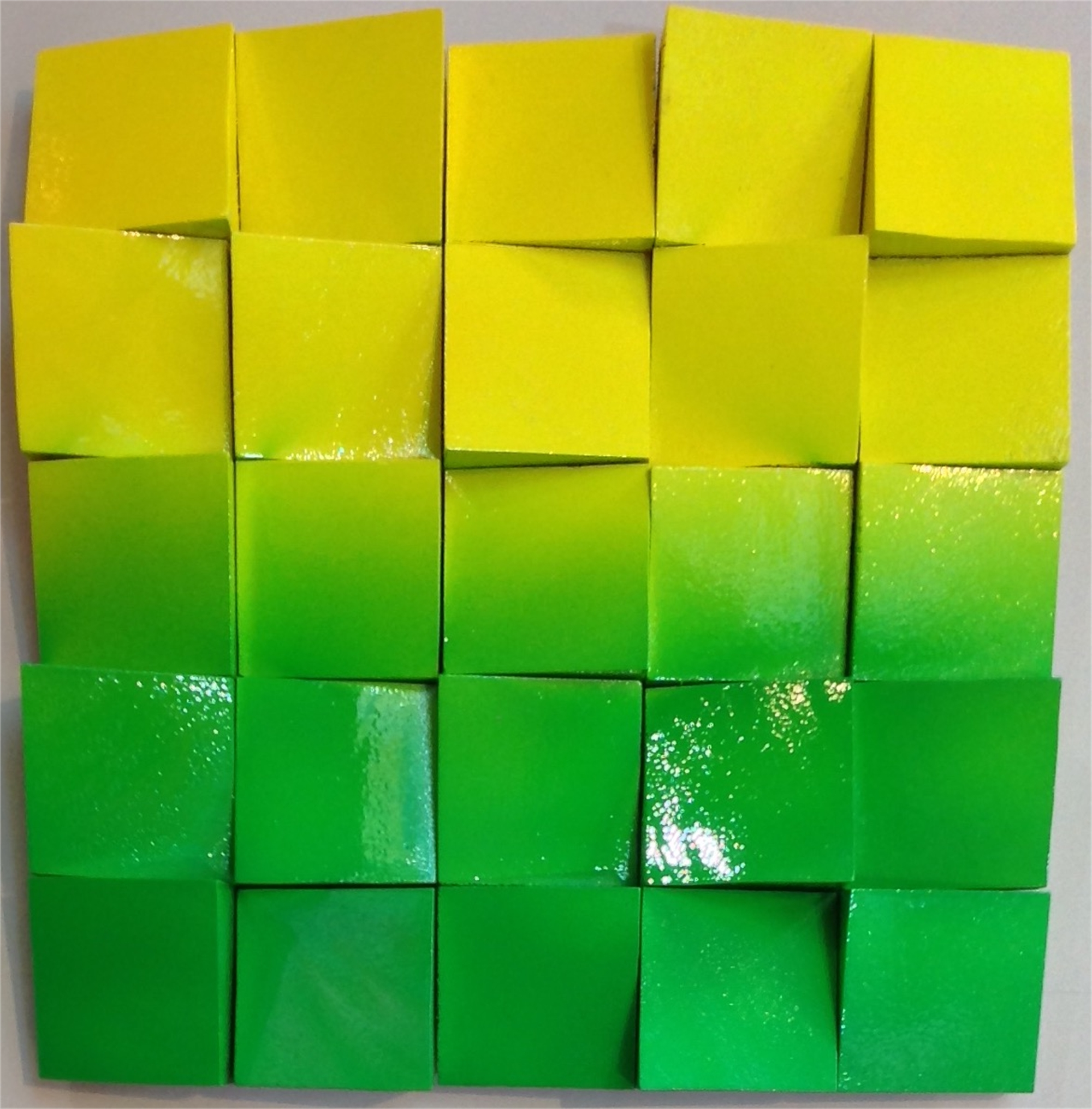 Neon Waves Green/Yellow Ombre by Efi Mashiah