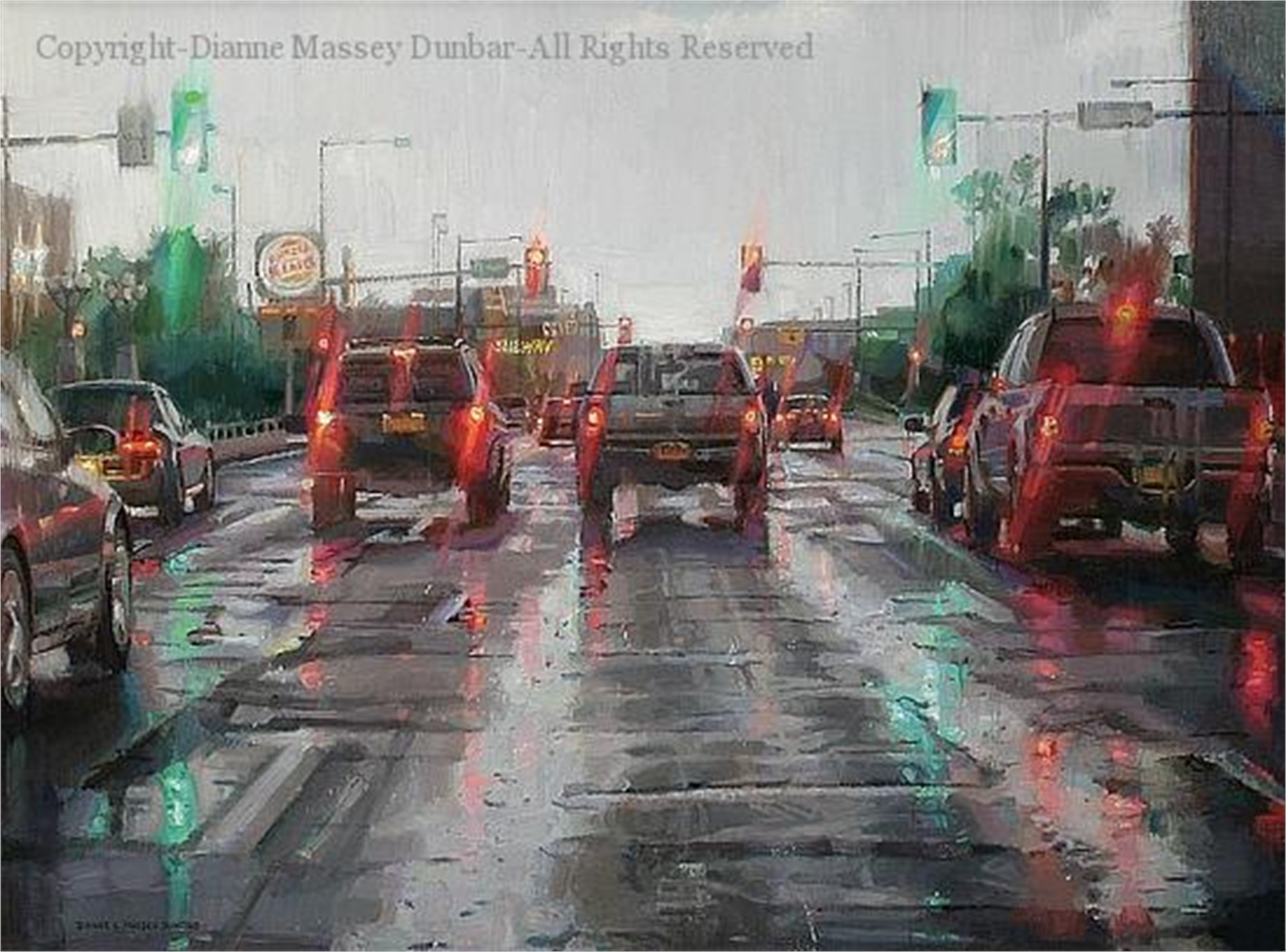 Driving in the Rain by Dianne L Massey Dunbar