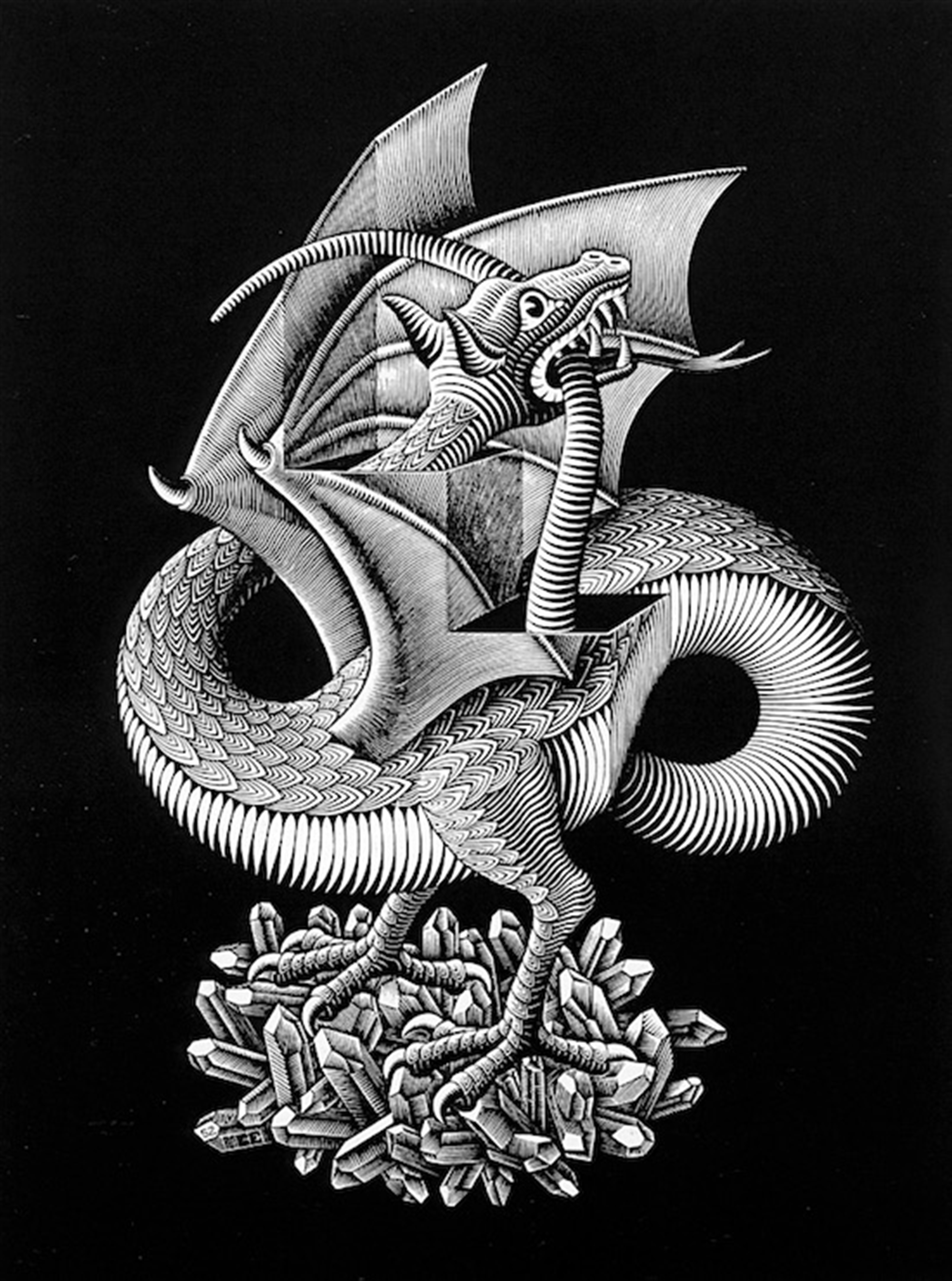 Dragon by M.C. Escher
