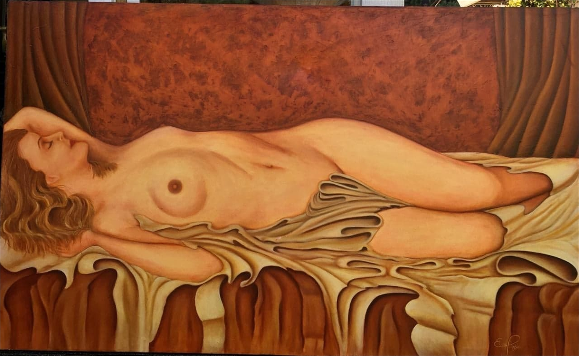 Reclining Nude by Edwin Johnson (McMinnville, OR)