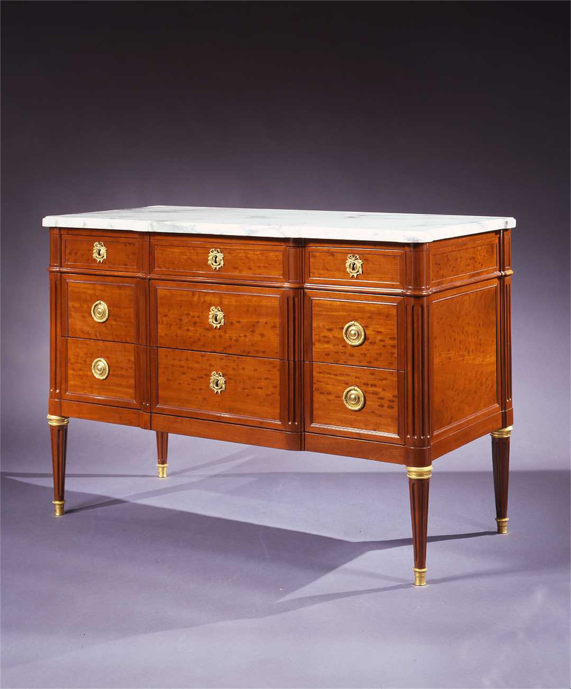 LOUIS XVI MAHOGANY COMMODE STAMPED STOCKEL by J. Stockel