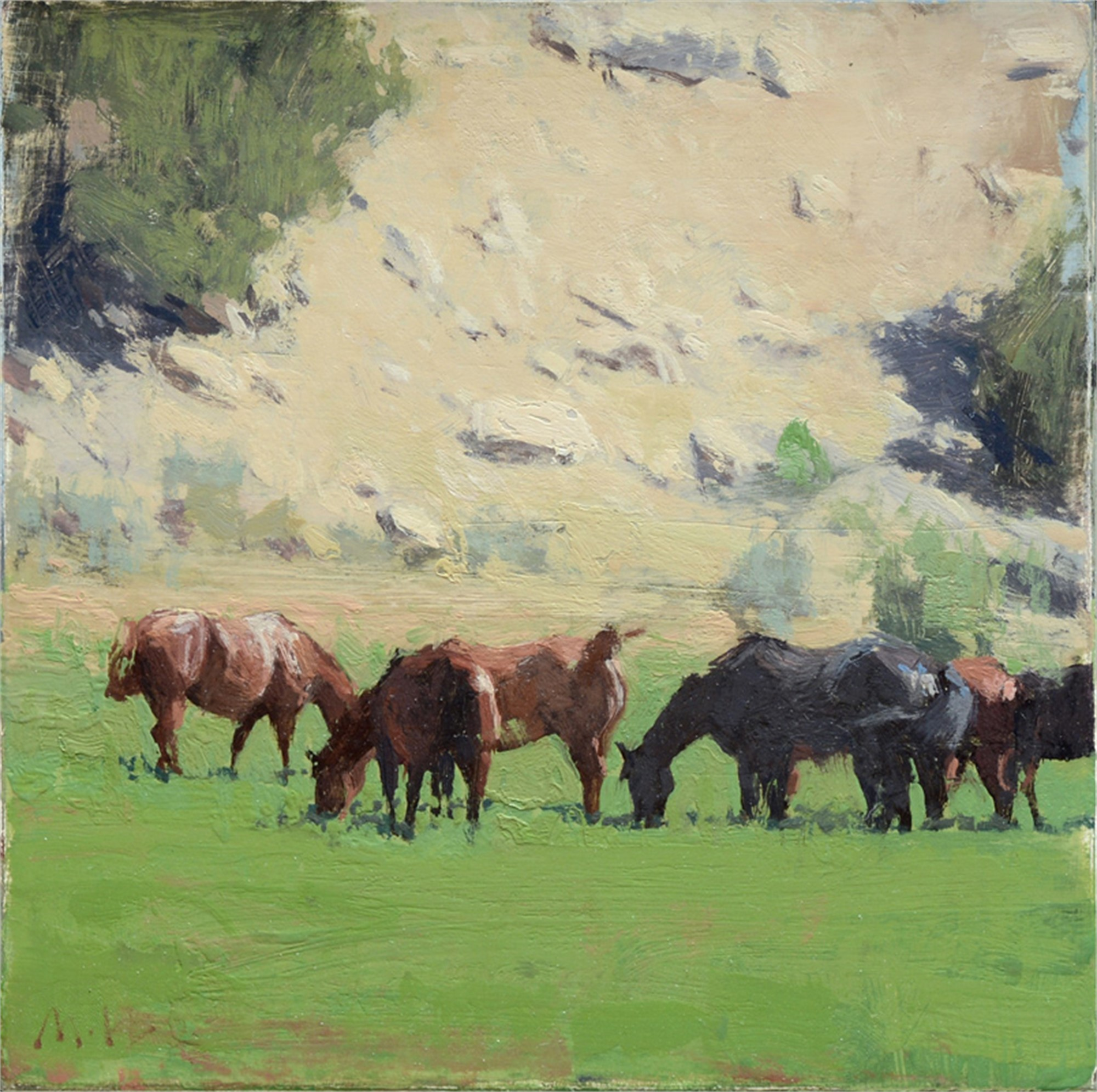 Canyon Horses I by Michael Workman