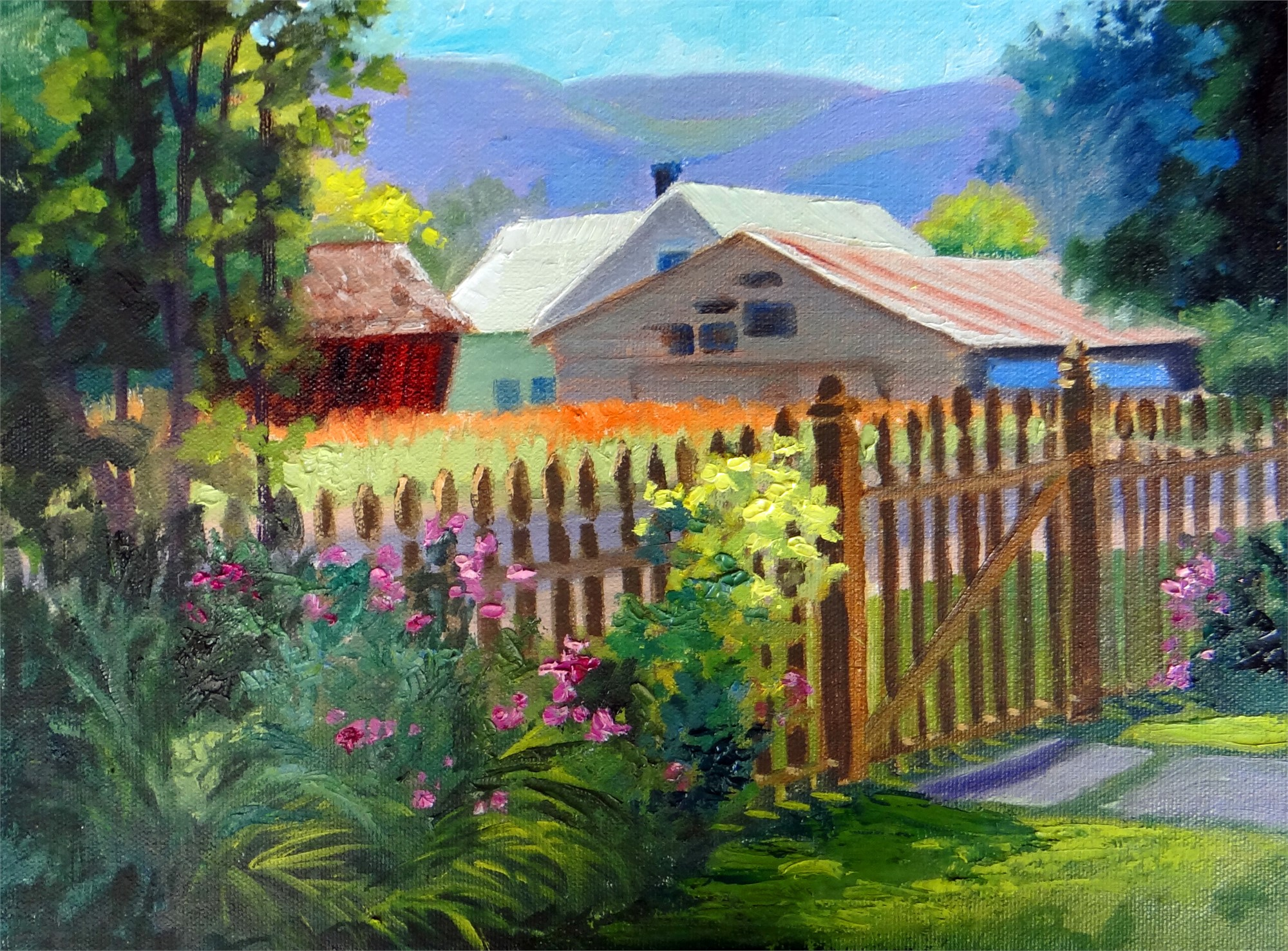 Little Picket Fence, 10/7/16 by Nancy Paris Pruden