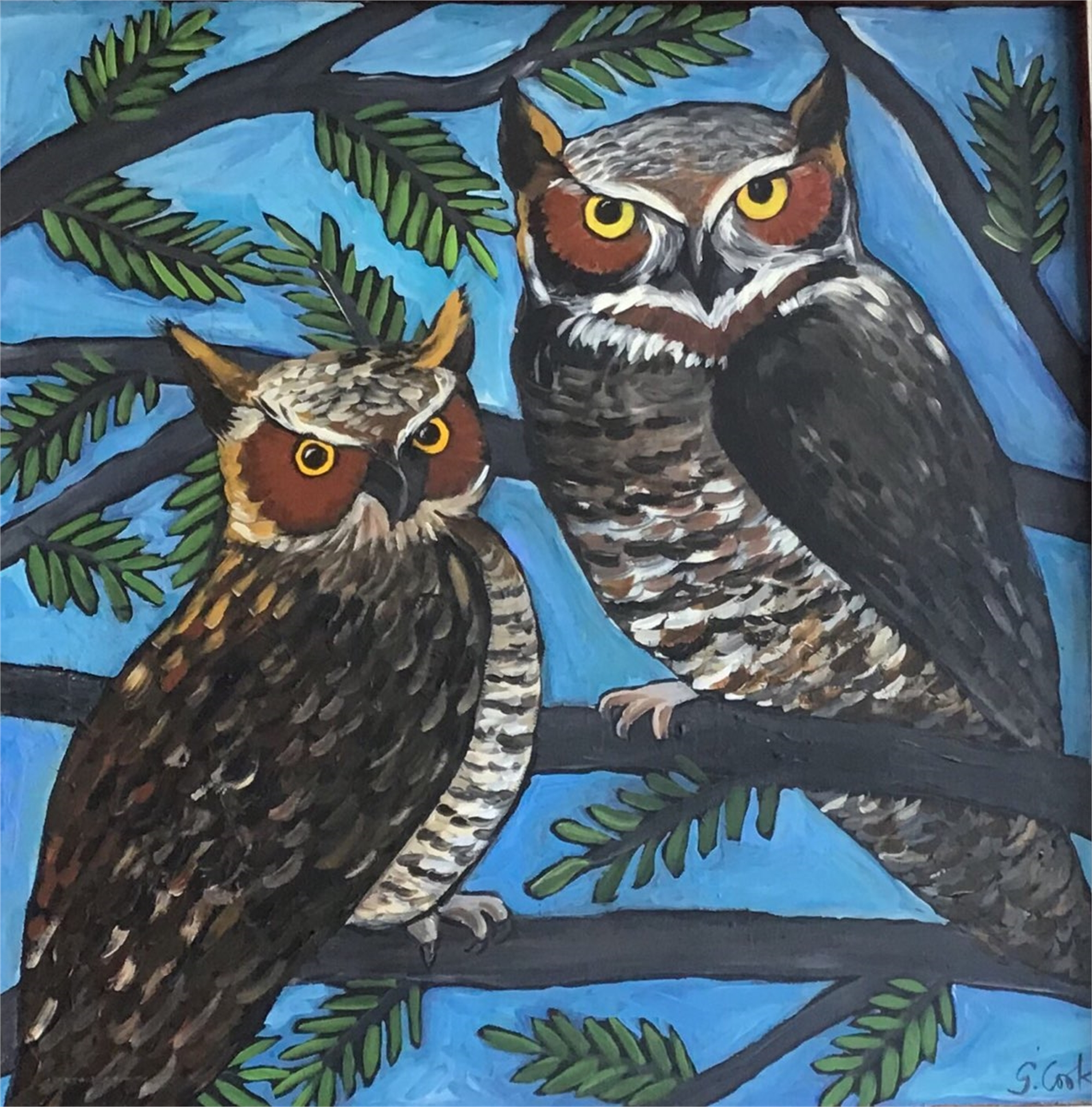 Couple of Owls by Sherry Cook