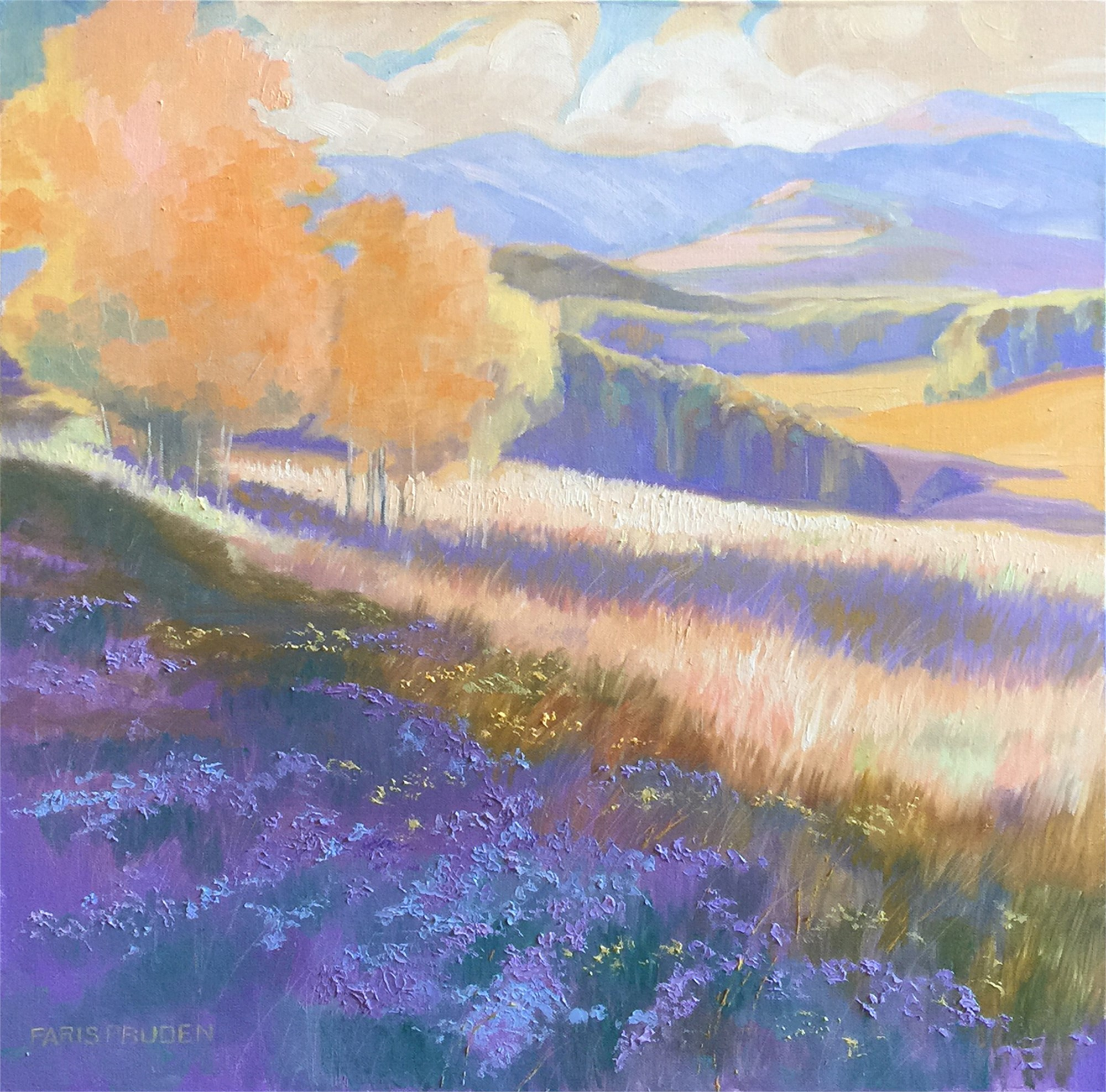 Soft Glow On The Hills by Nancy Paris Pruden