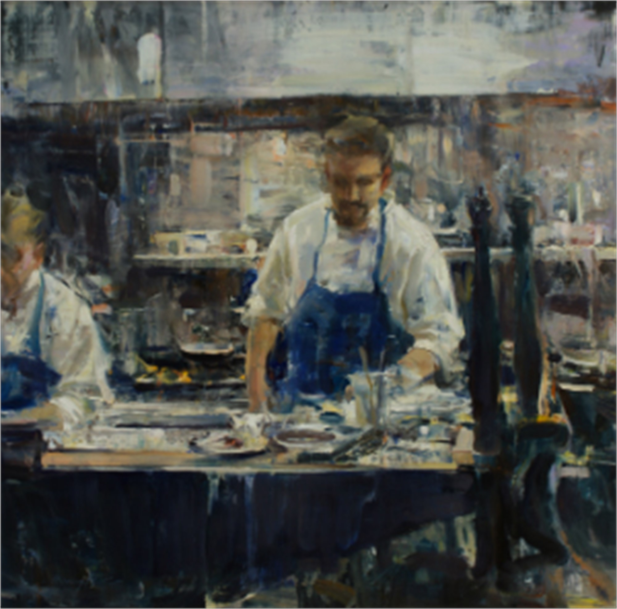 Kitchen Blue by Quang Ho